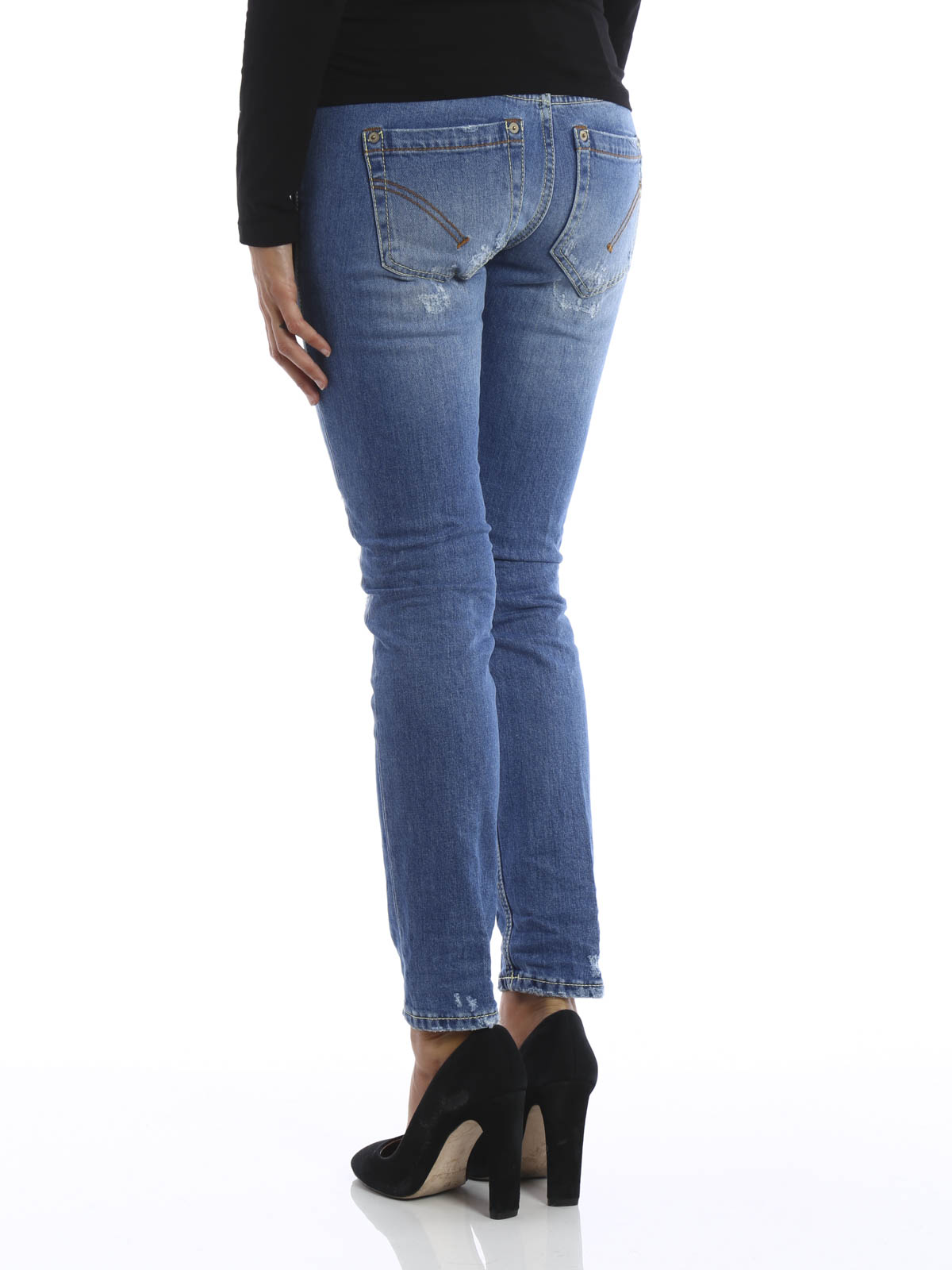 Outlet Explore Buy Cheap Countdown Package Dondup ripped knee skinny jeans q0fLJVKm