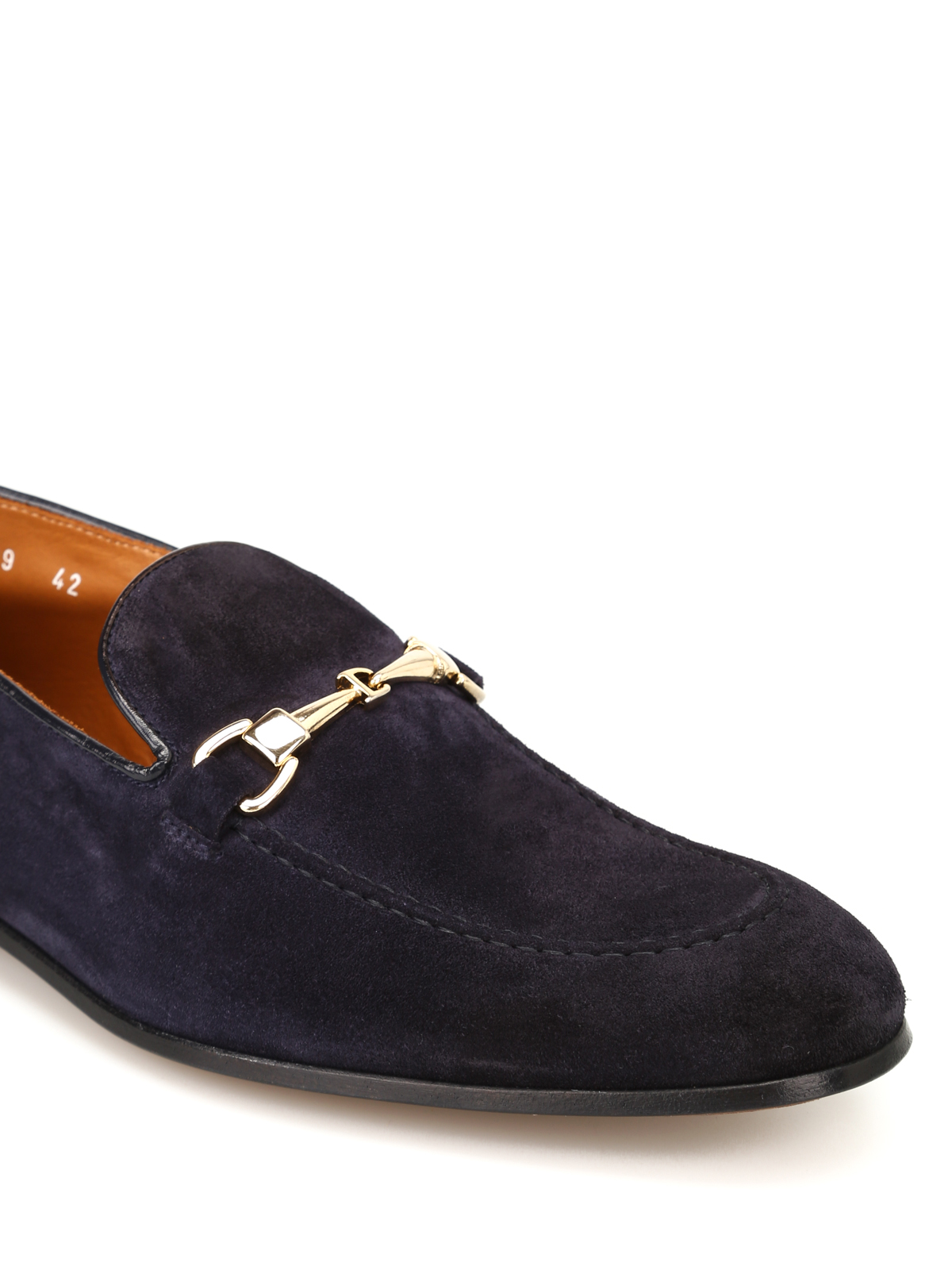 Blue pointy leather shoes Doucal's sQW8mPv