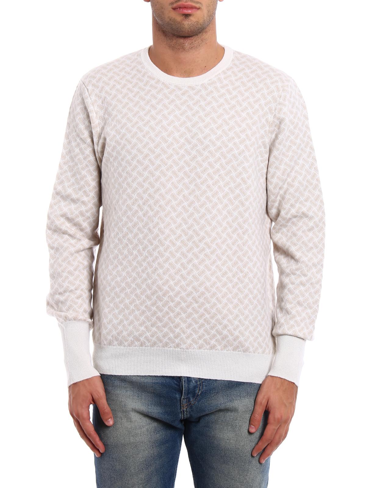 e895f3081151be Drumohr - Jacquard cashmere sweater - crew necks - D2K103AI11 ...