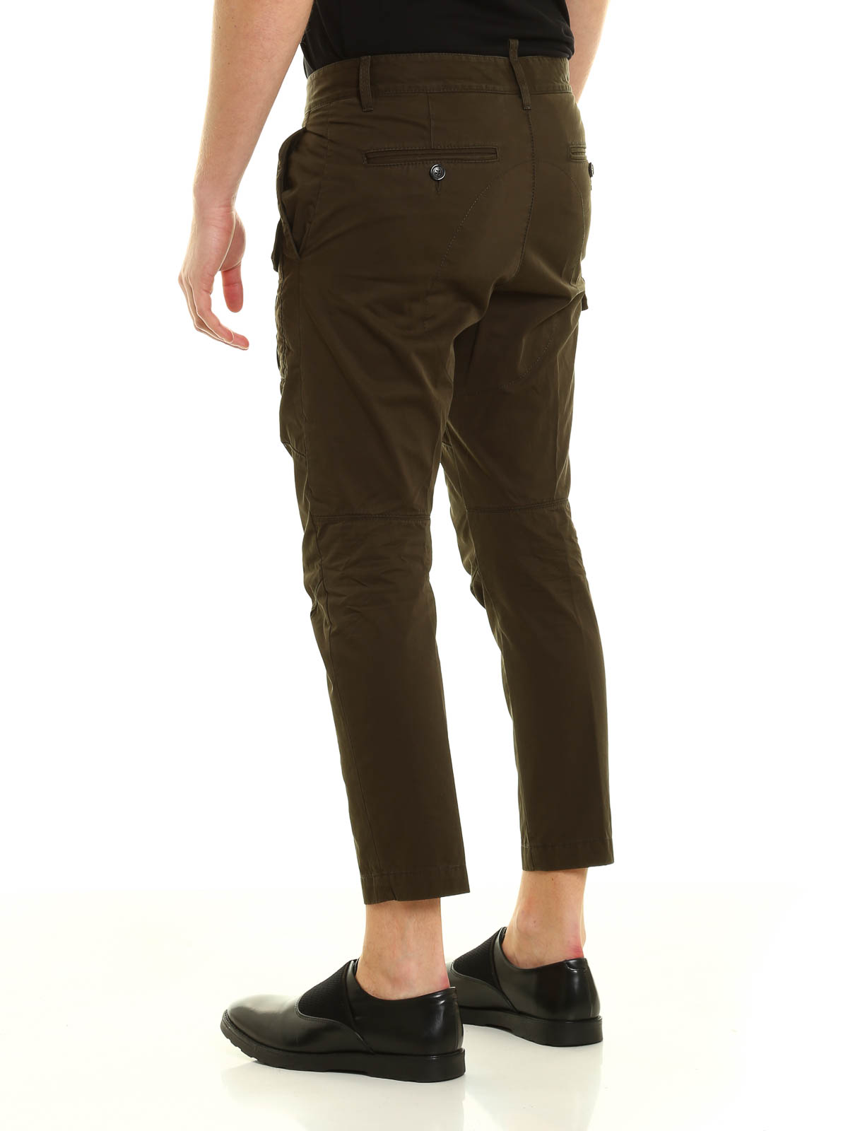 Limited Edition Sale Online Cheapest Cargo trousers in green cotton gabardine Dsquared2 ZWq5kfYz7o