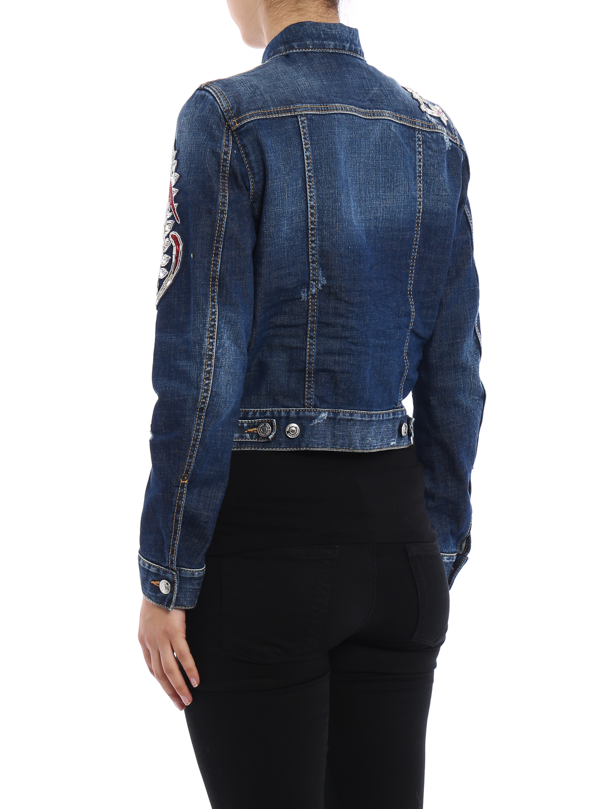 In Decori Kaban Giacca Giacche Dsquared2 Denim Con Eqg6C