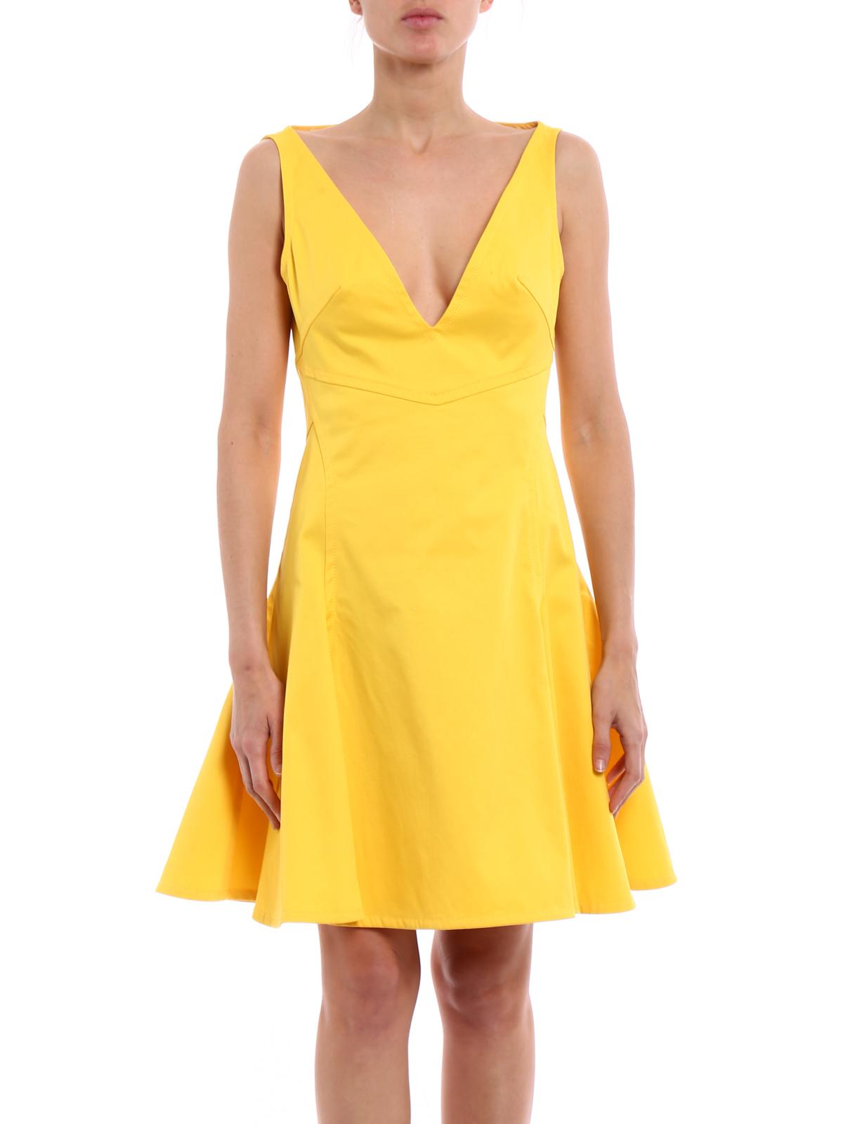 premium selection 7873a c09d1 Dsquared2 - Knielanges Kleid - Gelb - Knielange Kleider ...