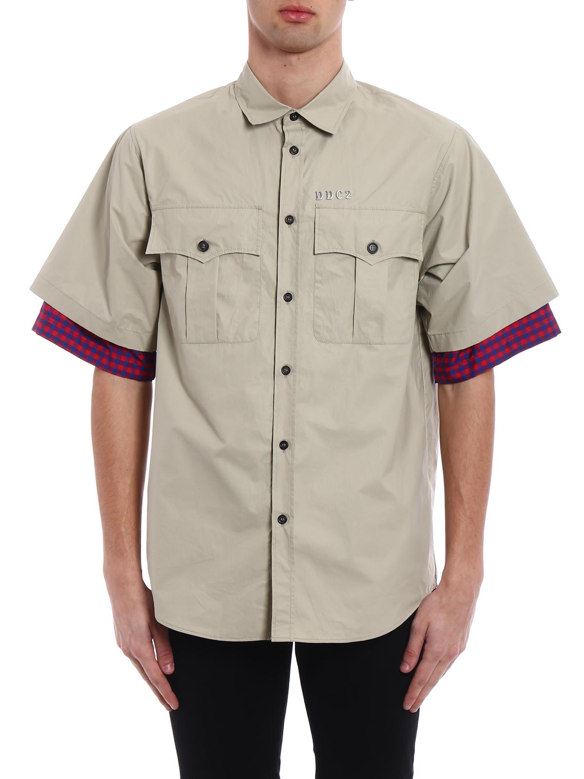 d7c1a5f4162f4 Dsquared2 - Coated cotton shirt - shirts - S71DM0140S48393800 ...