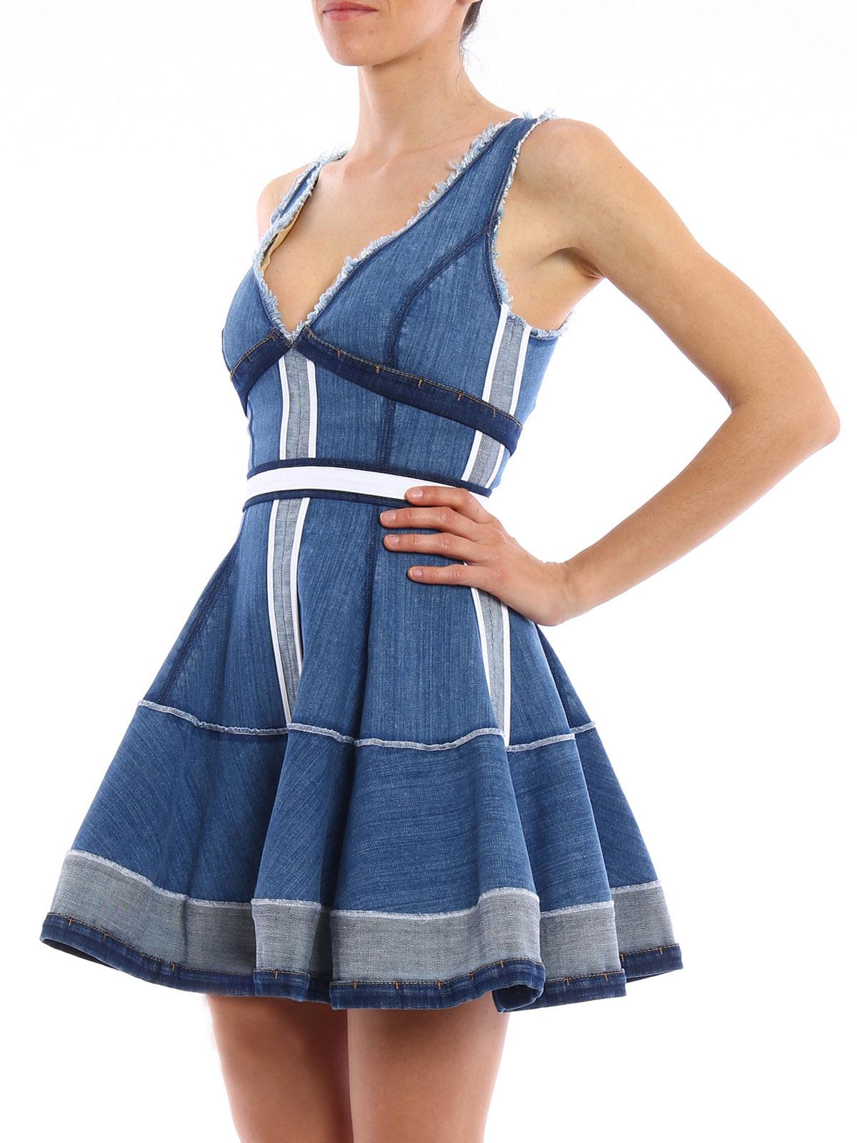 Sale Online Store Cheap Sale Amazon Denim dress Dsquared2 Wholesale Price Cheap Buy Authentic KYAggG876D