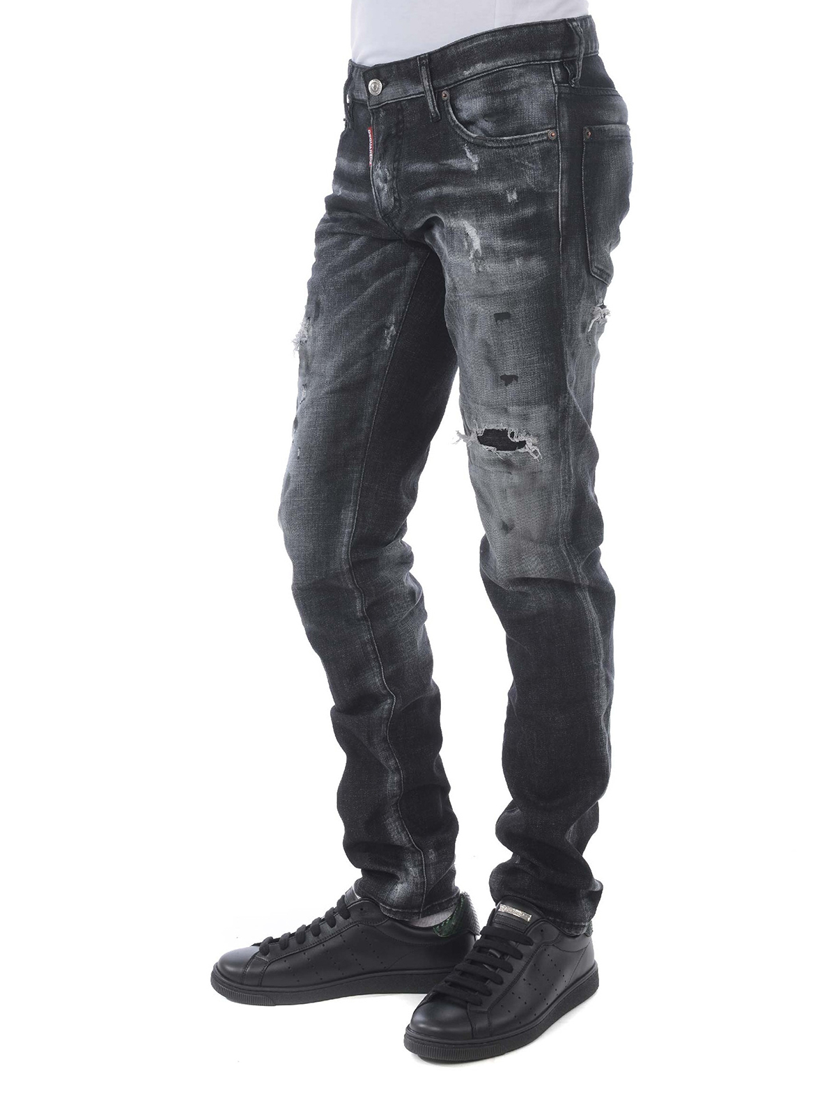 Tidy Biker Dark Grey Denim Jeans