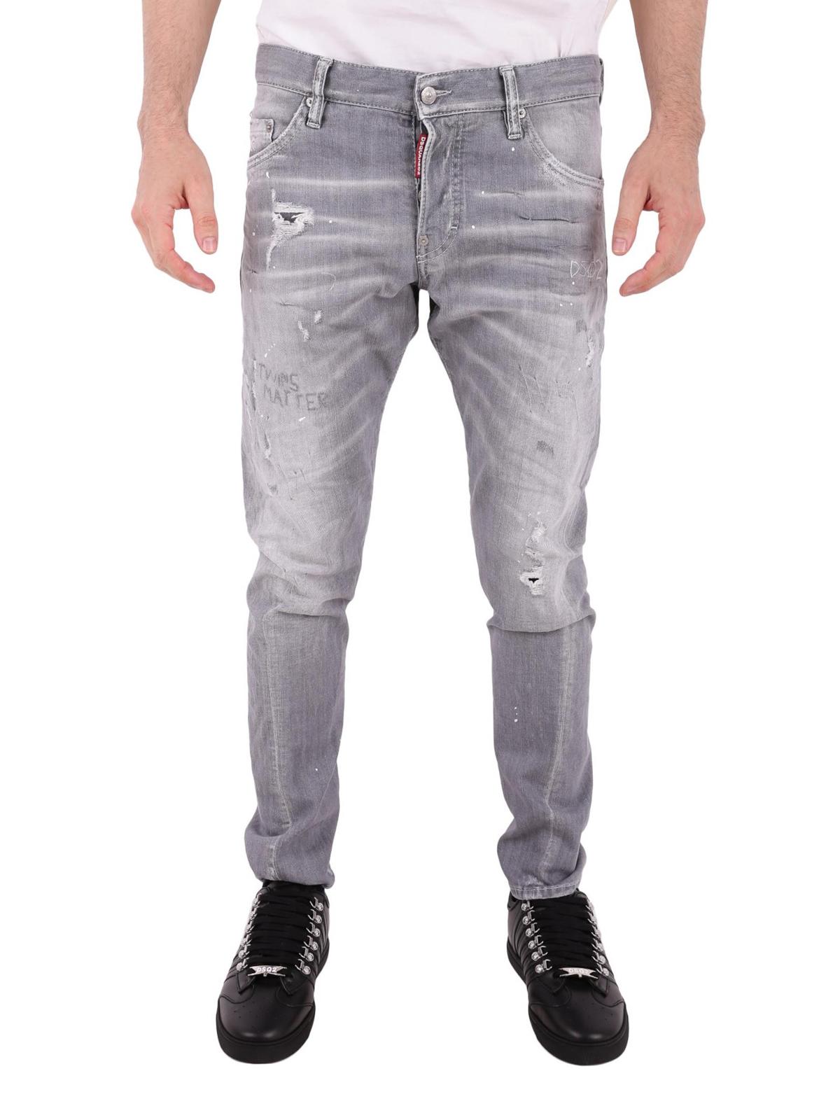 03829701e Dsquared2 - Jean Droit - Sexy Twist - Jeans à jambe droite ...