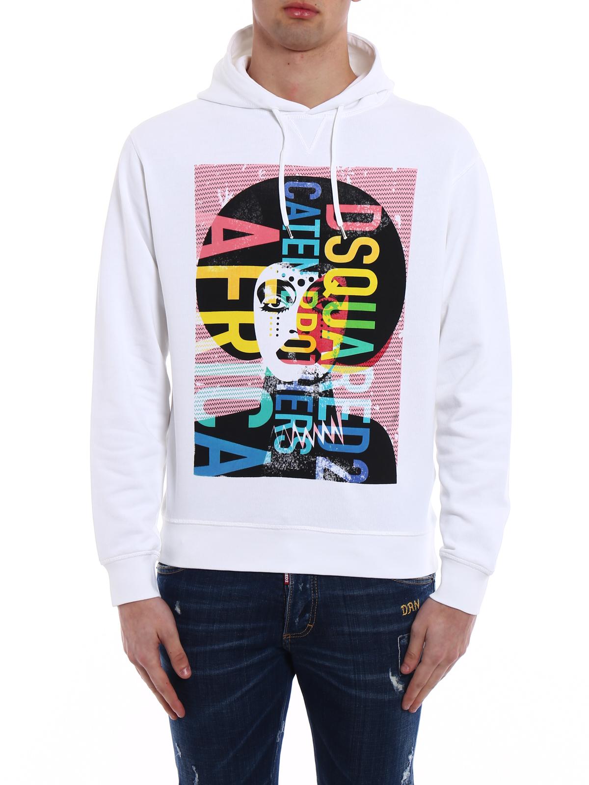 Dsquared2 Sweatshirt Weiß Sweatshirts und Pullover
