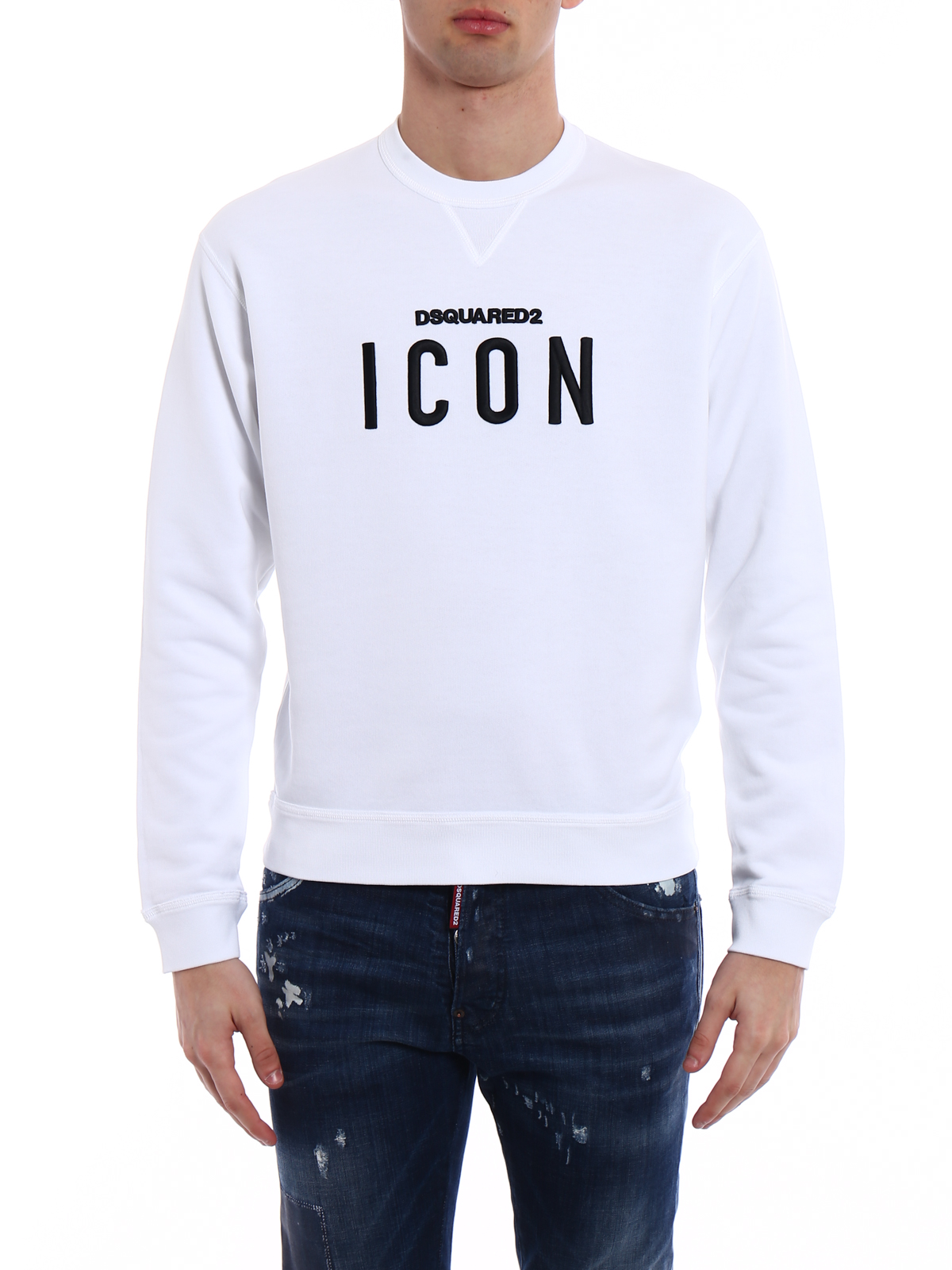 Icon embroidered patch sweatshirt