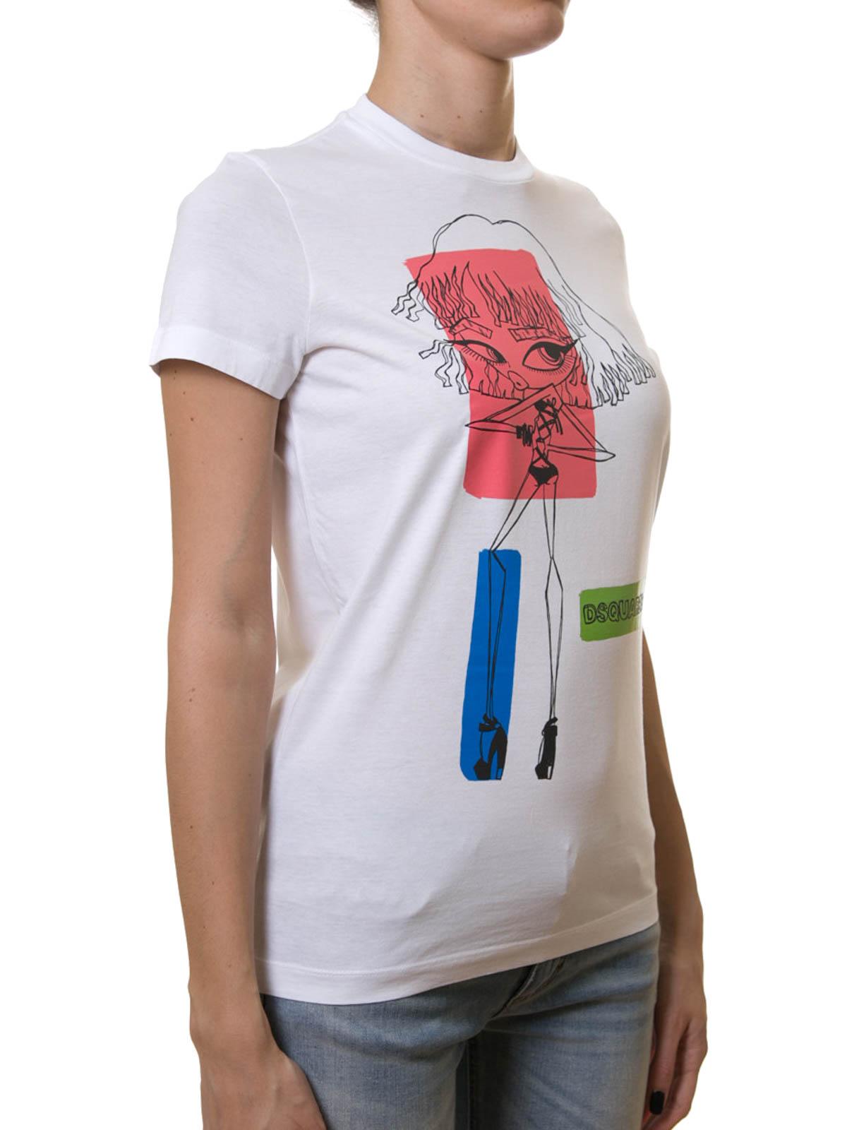 Colour block print t shirt by dsquared2 t shirts ikrix for Colour t shirt printing