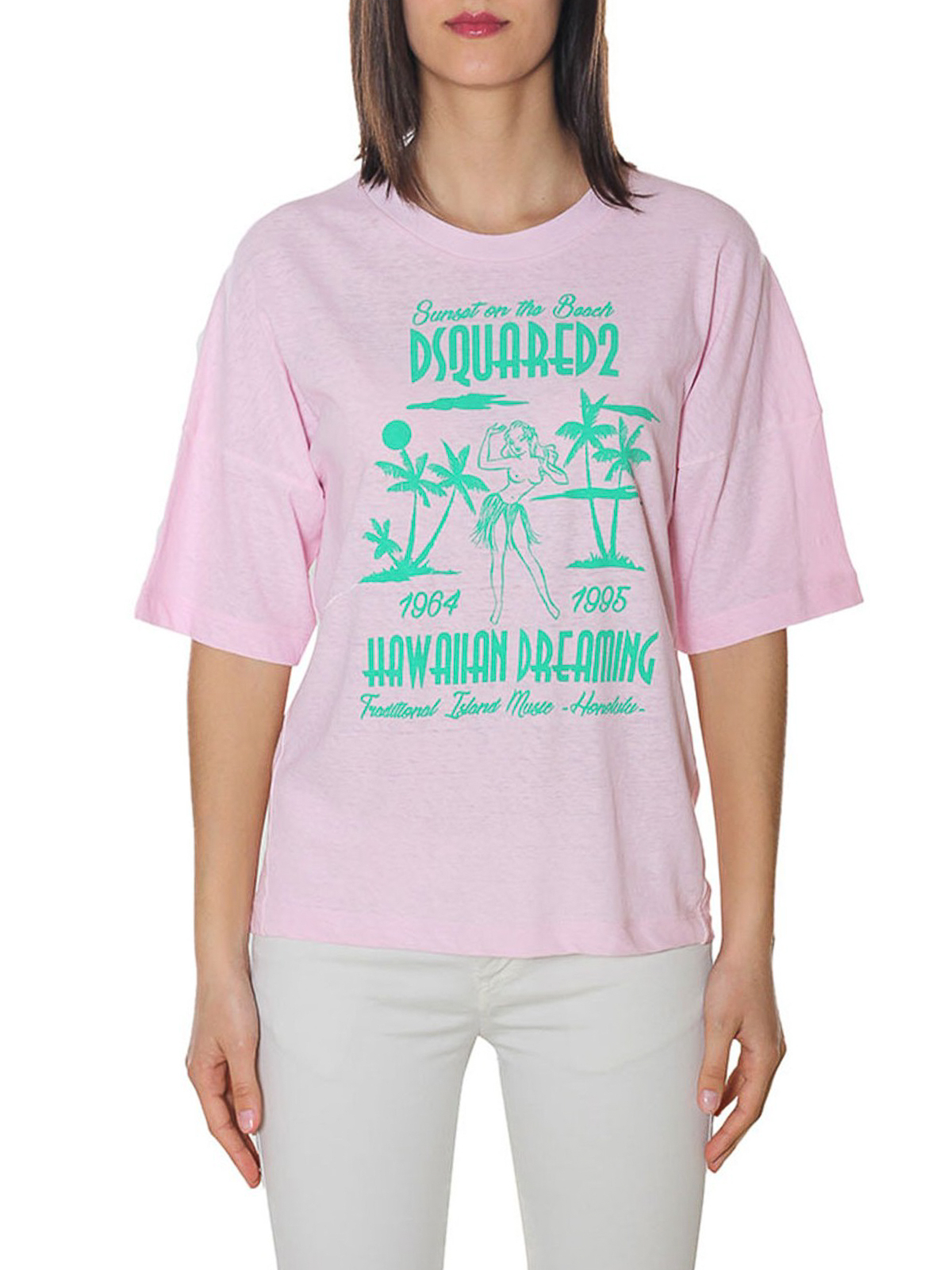11d618b4 iKRIX DSQUARED2: t-shirts - Hawaiian Dreaming print T-shirt