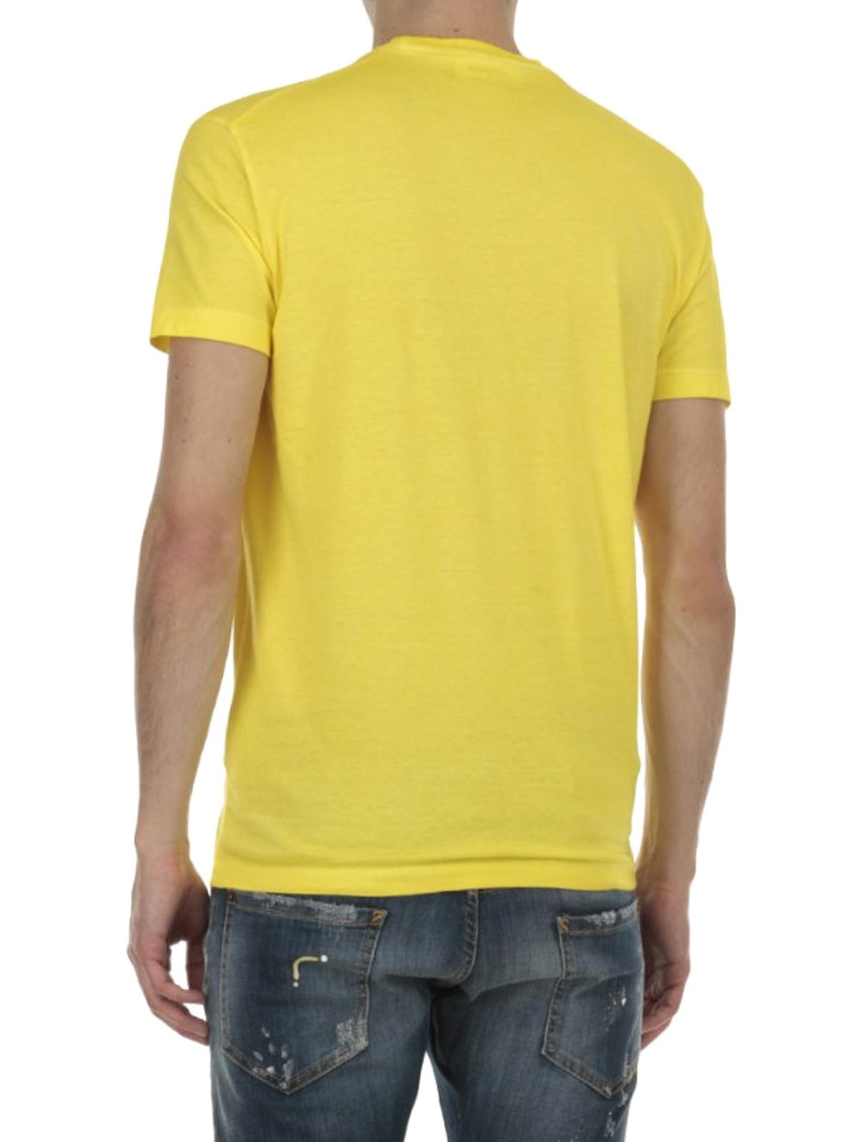 Dsquared2 - T-shirt in cotone con logo - t-shirt - GD0512 S21600 172 e7d2fc9f8d41