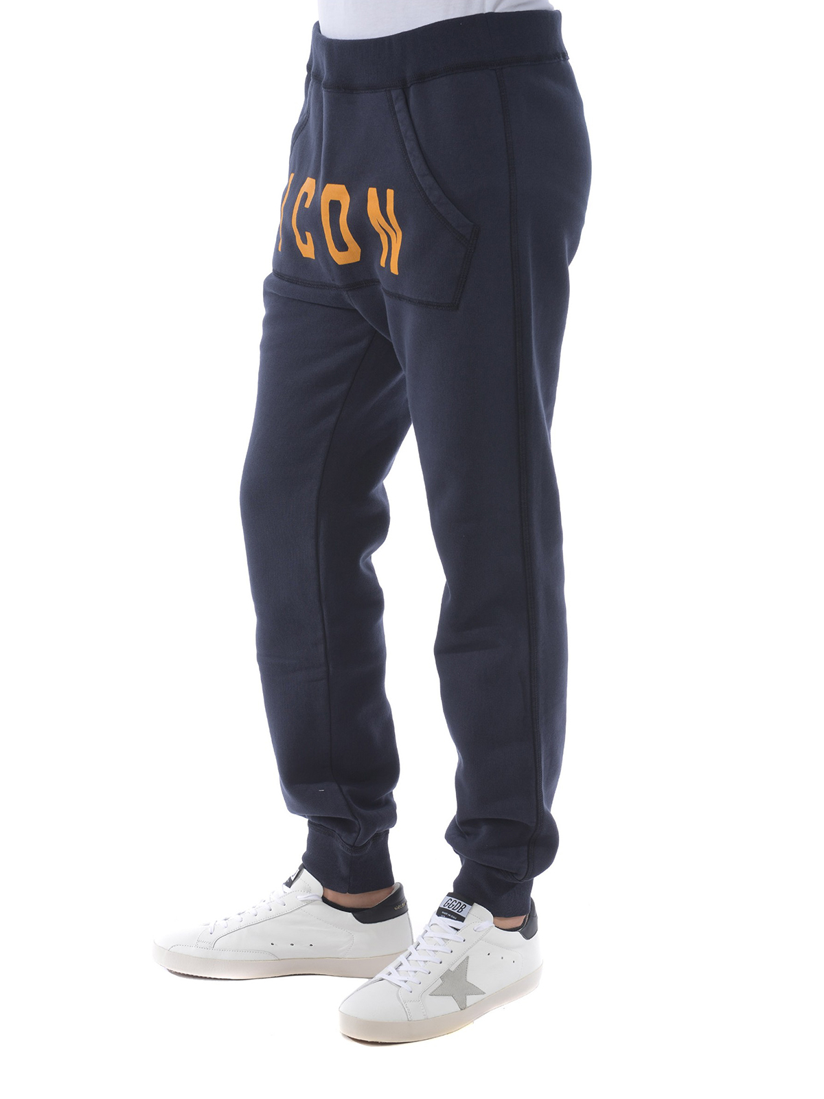 0a88146b8277 iKRIX DSQUARED2  tracksuit bottoms - Orange Icon print cotton tracksuit  pants