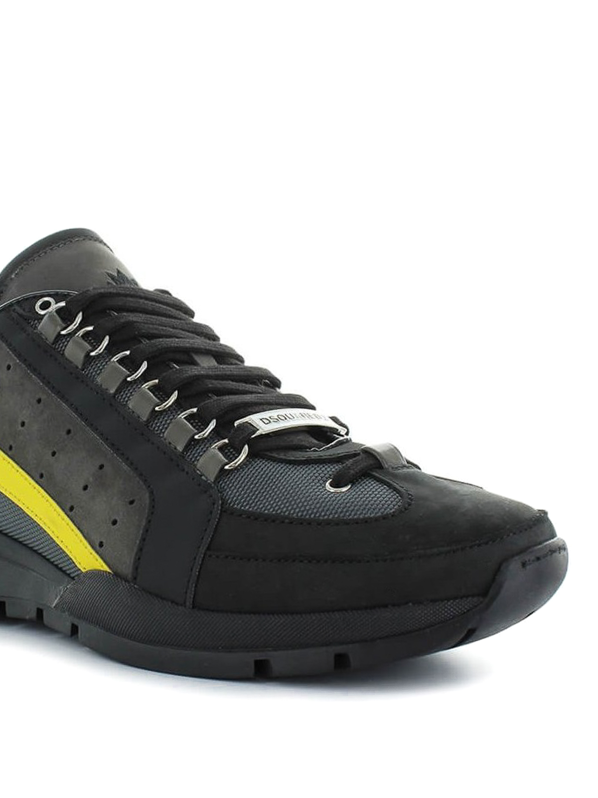 551 black and yellow sneakers