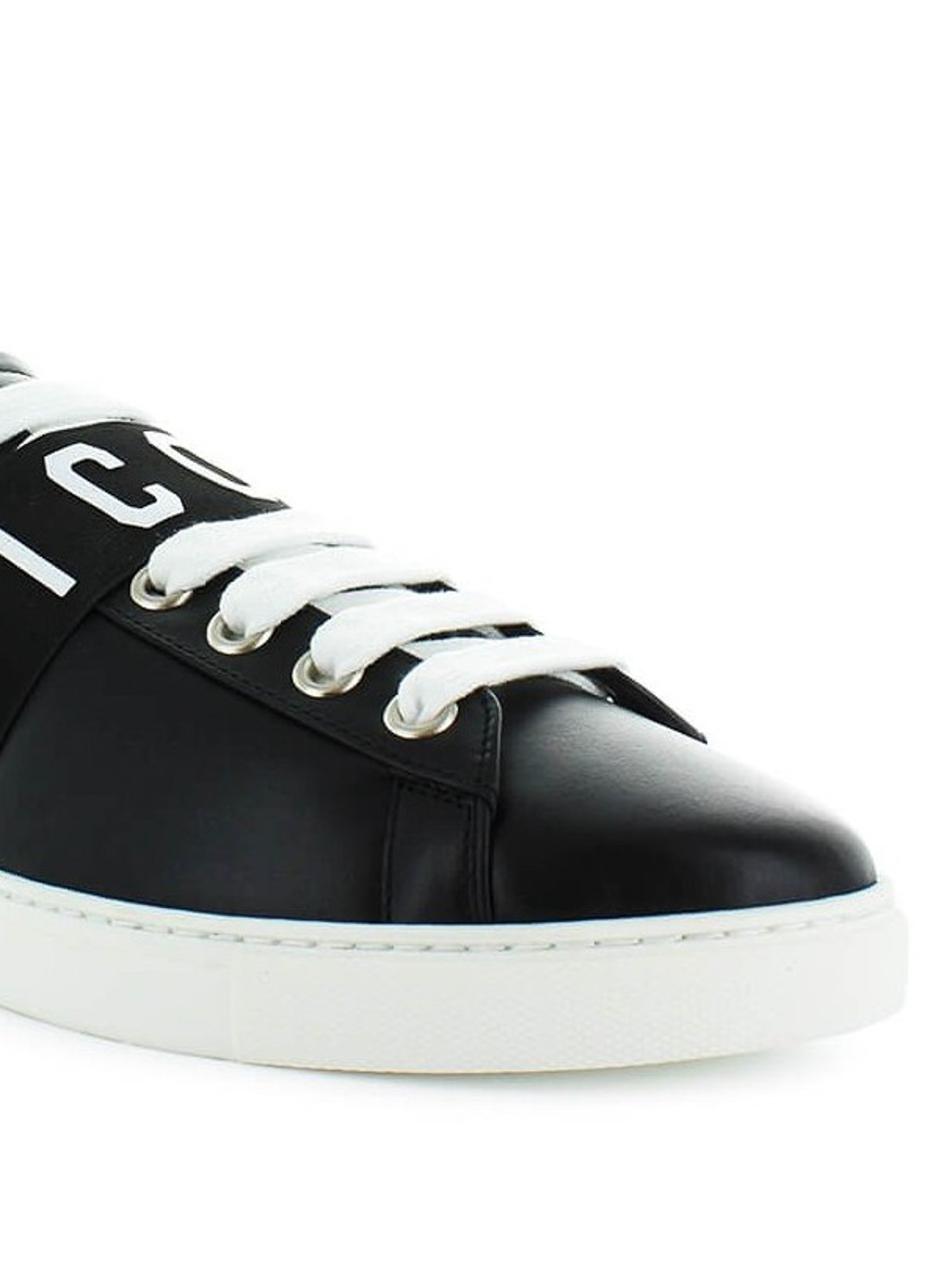 Icon Low black leather sneakers