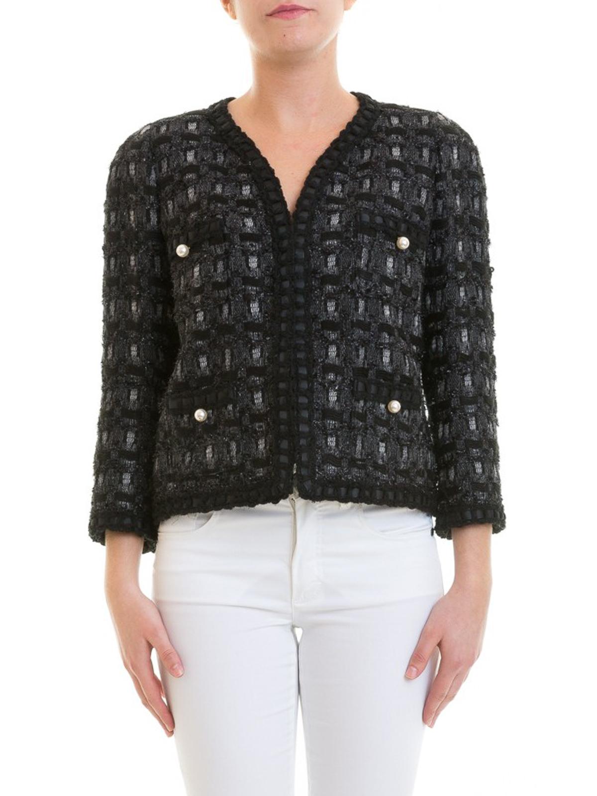 c9aef51fe2b92 iKRIX EDWARD ACHOUR PARIS  casual jackets - Wool blend tweed crop jacket