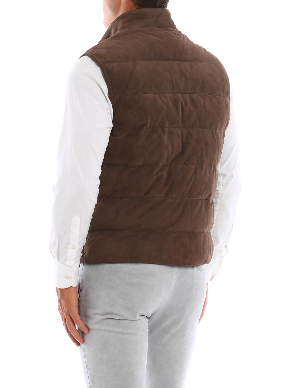 sale retailer 1960e 5cd42 Eleventy - Giacca smanicata in camoscio - giacche in pelle ...