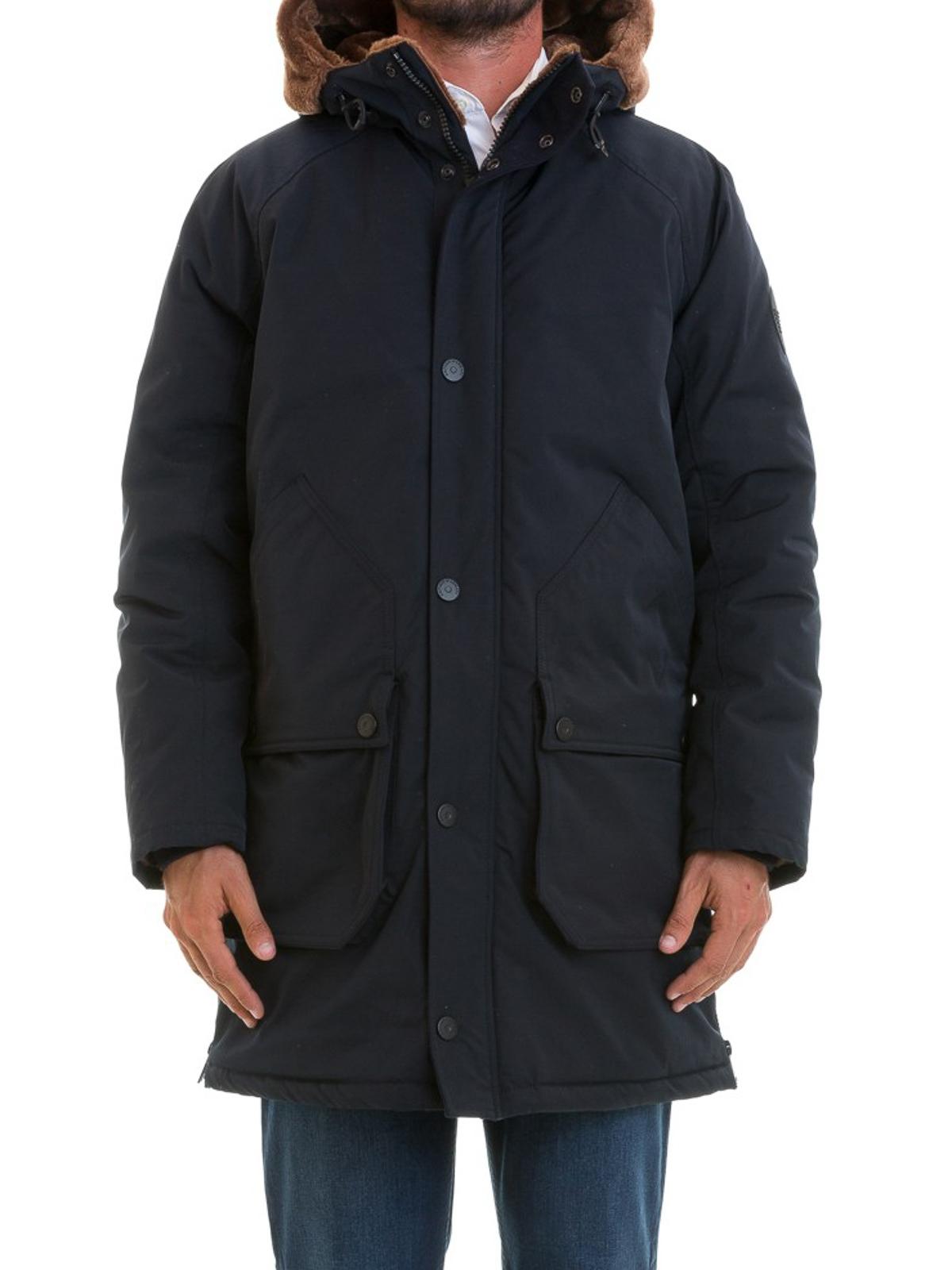 new style 95e20 f027f Emporio Armani - Piumino lungo con ecopelliccia - cappotti ...