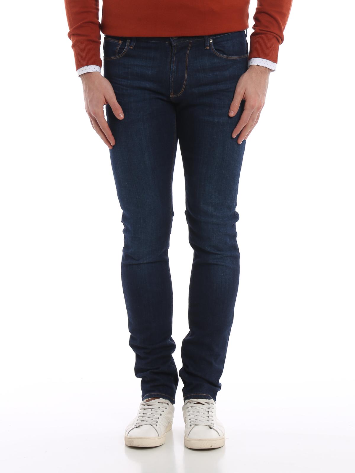 Emporio Armani Jeans a sigaretta in denim scuro jeans