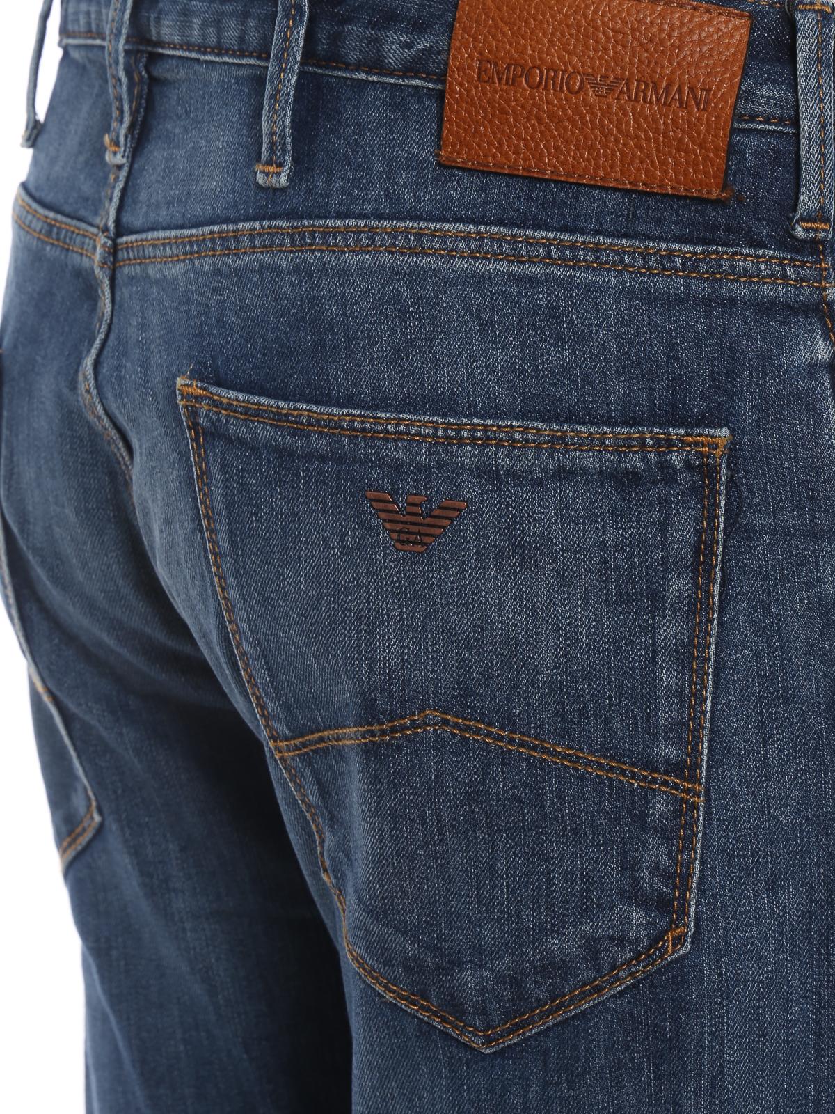 73e4b07a Emporio Armani - J06 faded slim jeans - straight leg jeans ...