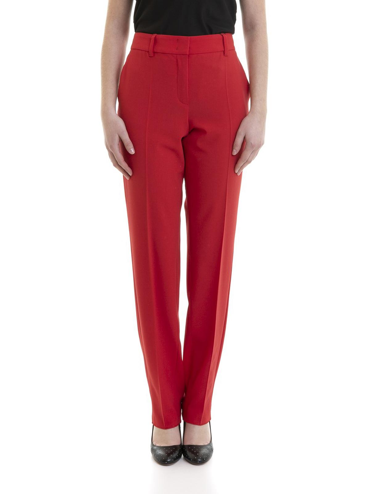 f064a23d12 Donna · Uomo. iKRIX EMPORIO ARMANI: Pantaloni sartoriali - Pantaloni  classici in lana stretch rossi
