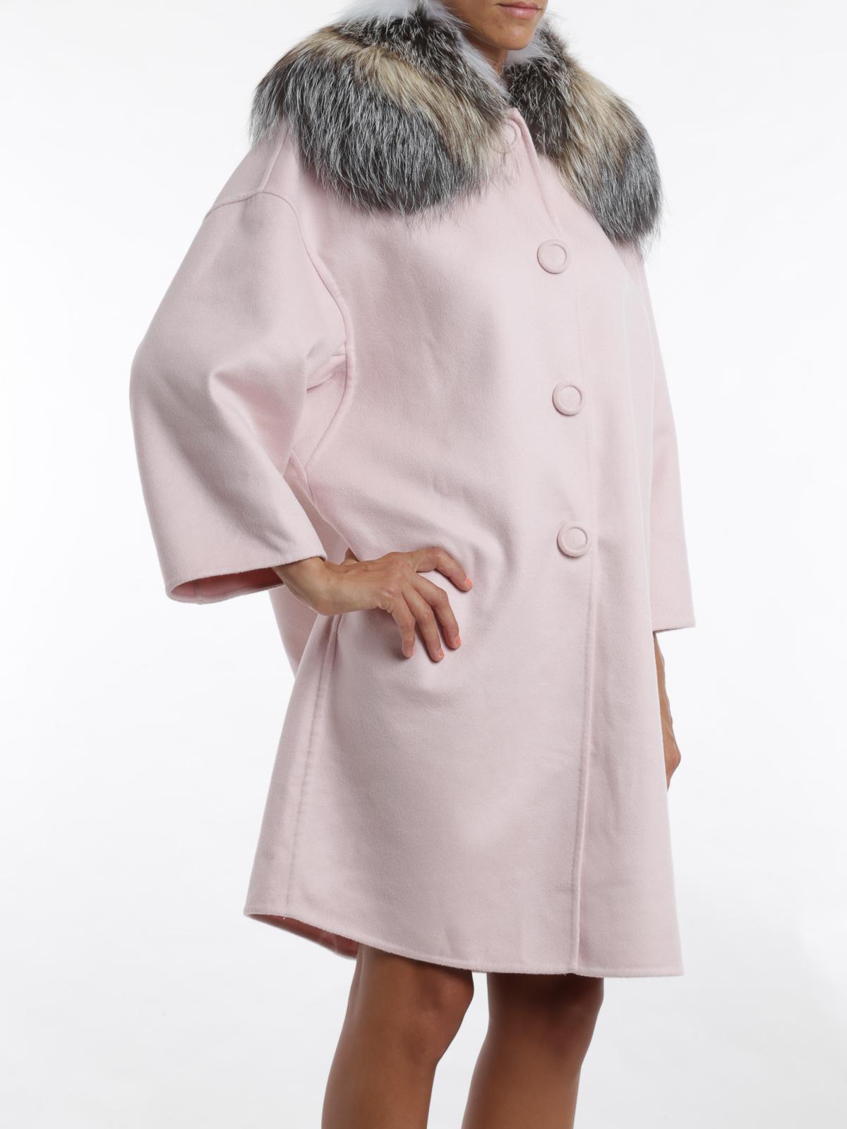 best service 55adf 5d65b Ermanno Scervino - Coat with fox fur collar coat - knee ...