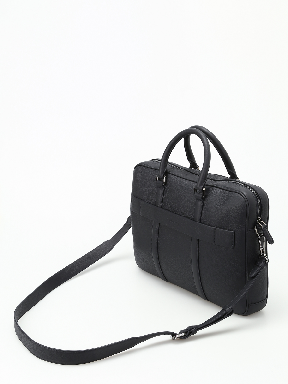 d4f205a2 Ermenegildo Zegna - Dark blue leather briefcase - laptop bags ...