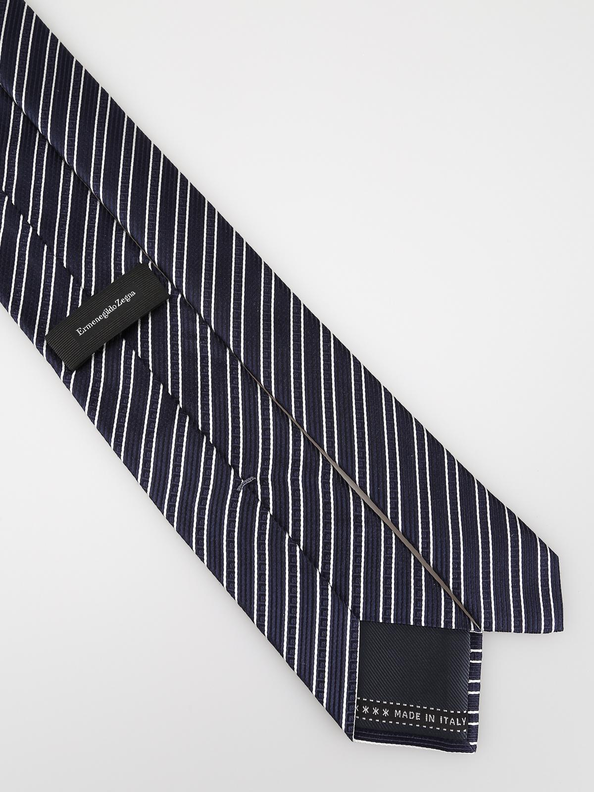 46daed48 Ermenegildo Zegna - Striped silk tie - ties & bow ties - Z5E181L7L