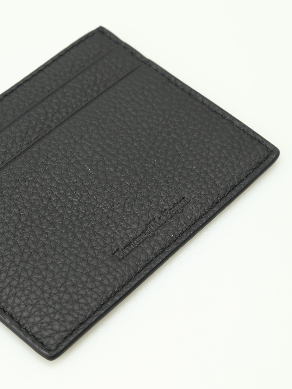 Hammered leather card holder by ermenegildo zegna wallets purses ikrix ermenegildo zegna wallets purses hammered leather card holder reheart Images