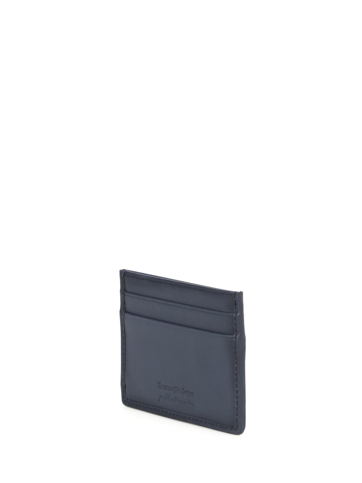 Pelle tessuta blue card holder by ermenegildo zegna wallets ikrix ermenegildo zegna wallets purses pelle tessuta blue card holder reheart Images