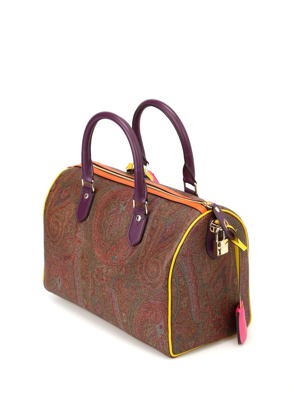 new product 2b0a9 74240 Etro - Bauletto Paisley con bordi colorati - bauletti ...