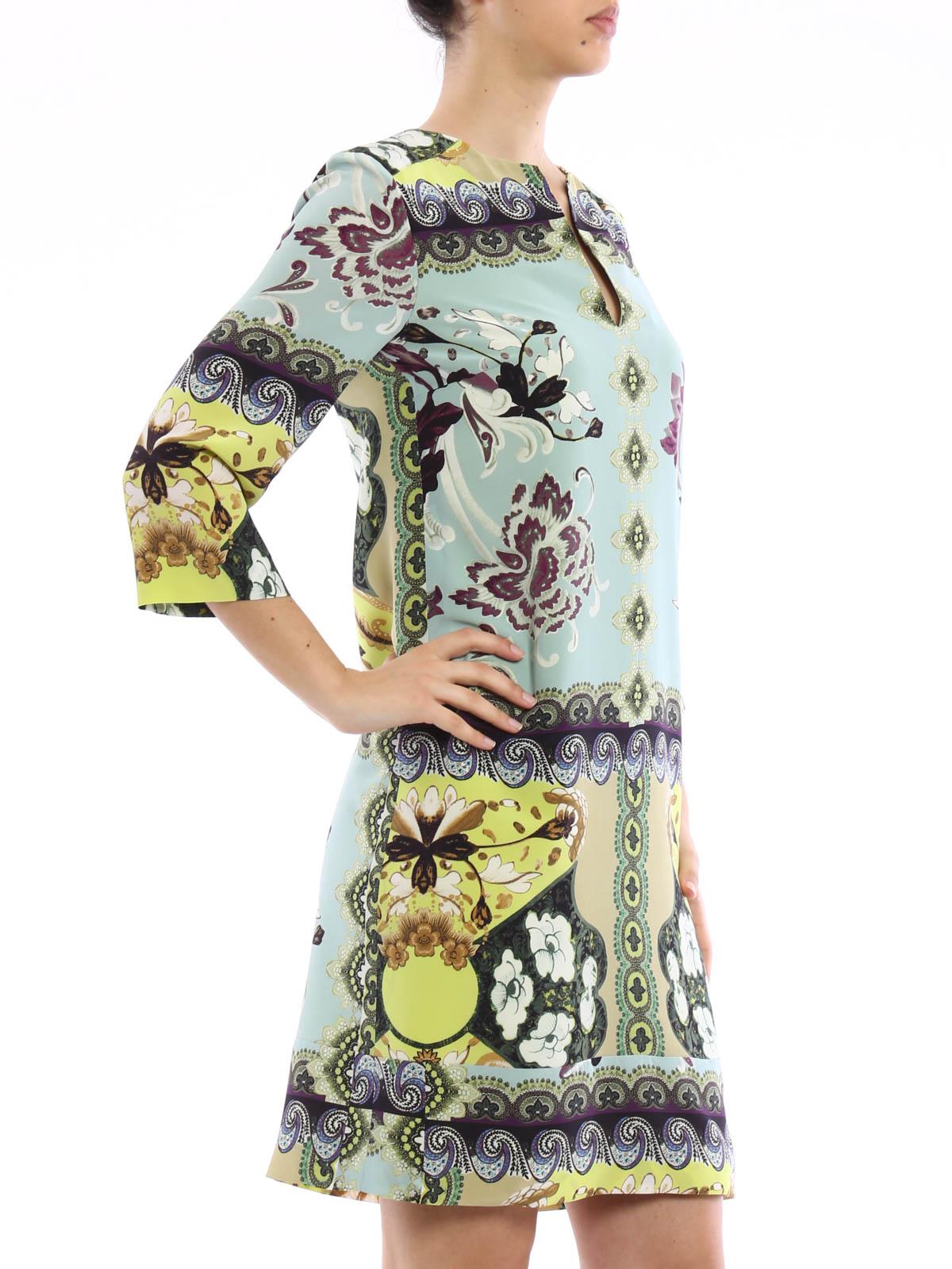online retailer 1802d 85e84 Etro - Abito tunica in seta floreale - abiti da cocktail ...