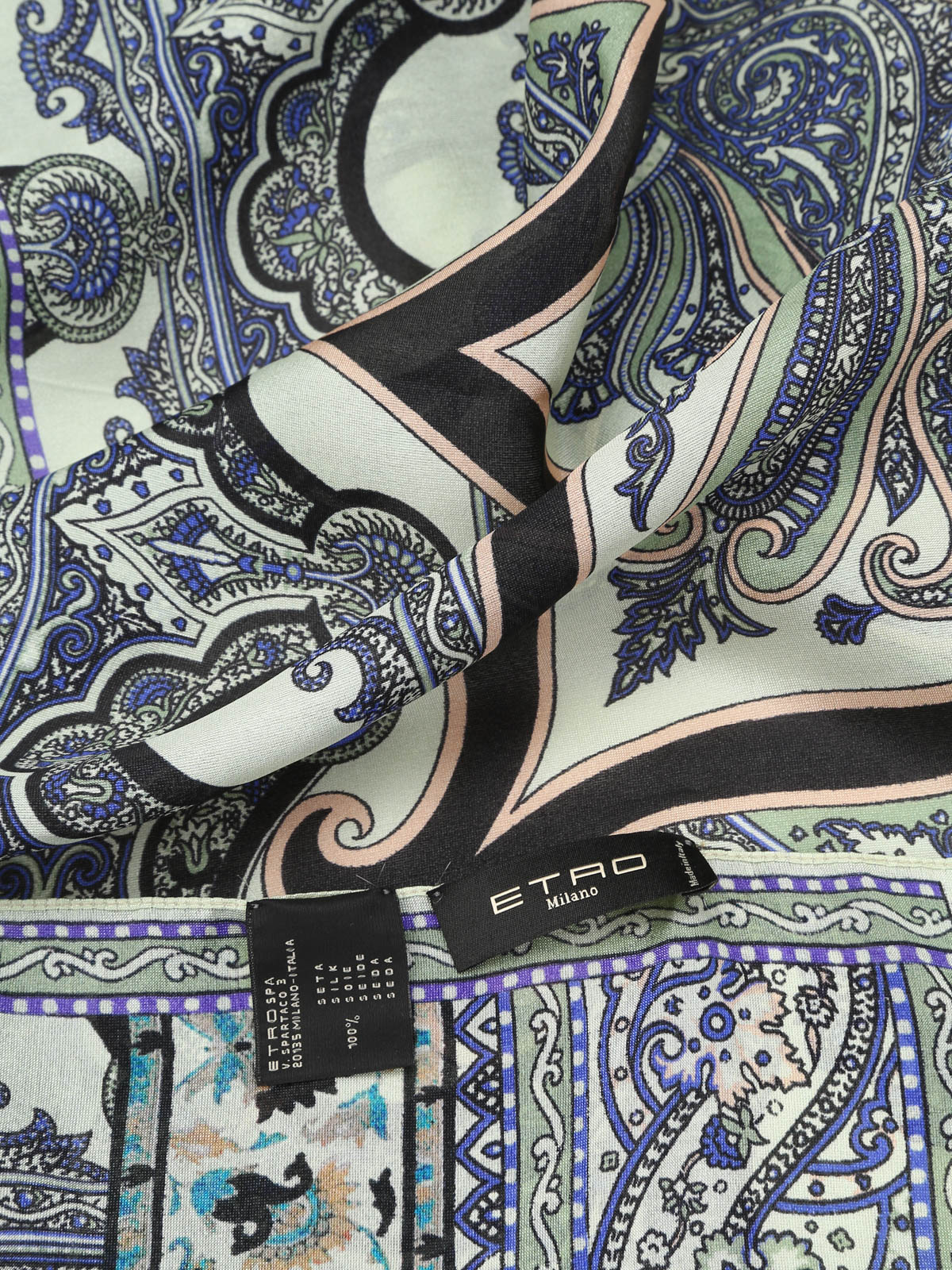 ETRO Milano Paisley NEW NEW Pure Silk Pure Silk Original Made in Italy