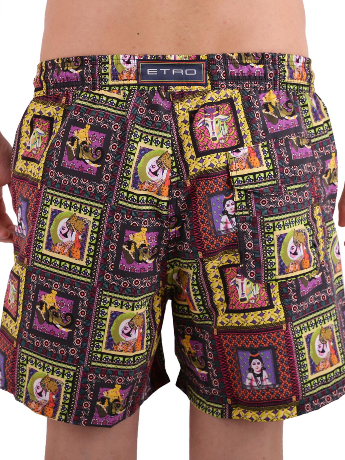 the latest 8cbf1 3764a Etro - Costume stampa etnica - Costumi piscina e boxer ...