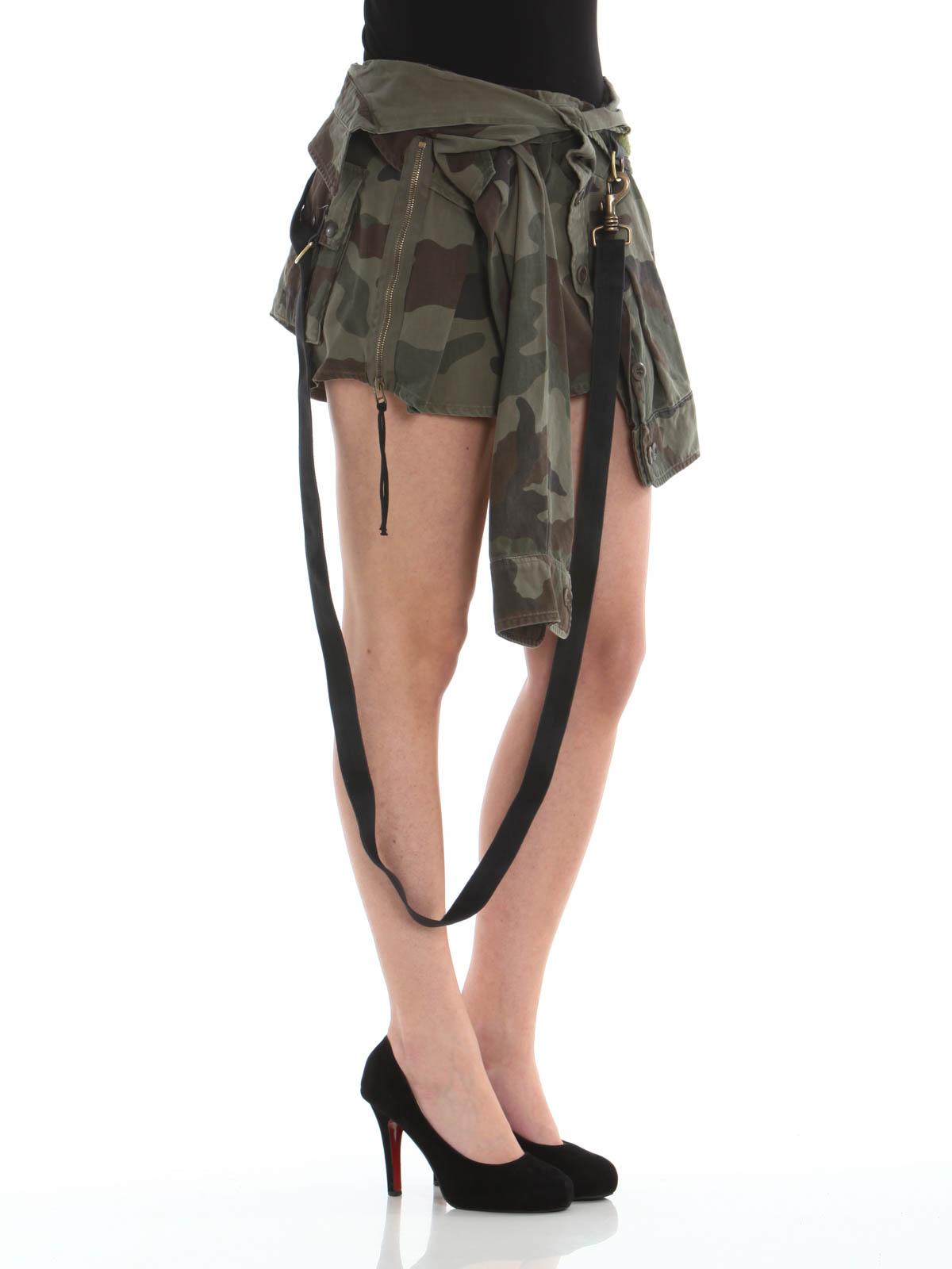 Connexion Minigonne A Camouflage Gonna Camicia Faith OwPXlZiukT