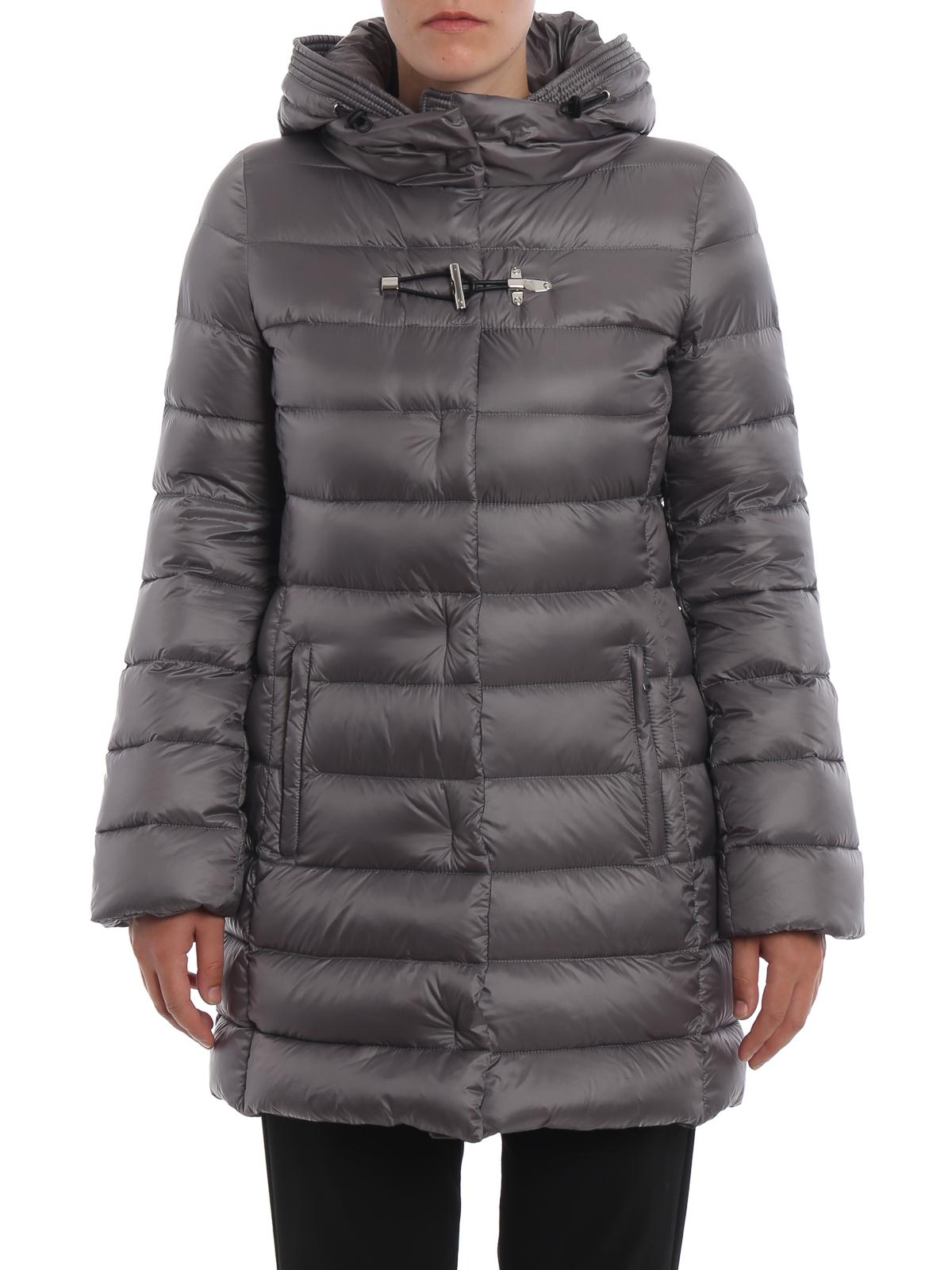 new product 58976 03e90 Fay - Piumino in nylon con cappuccio avvolgente - cappotti ...