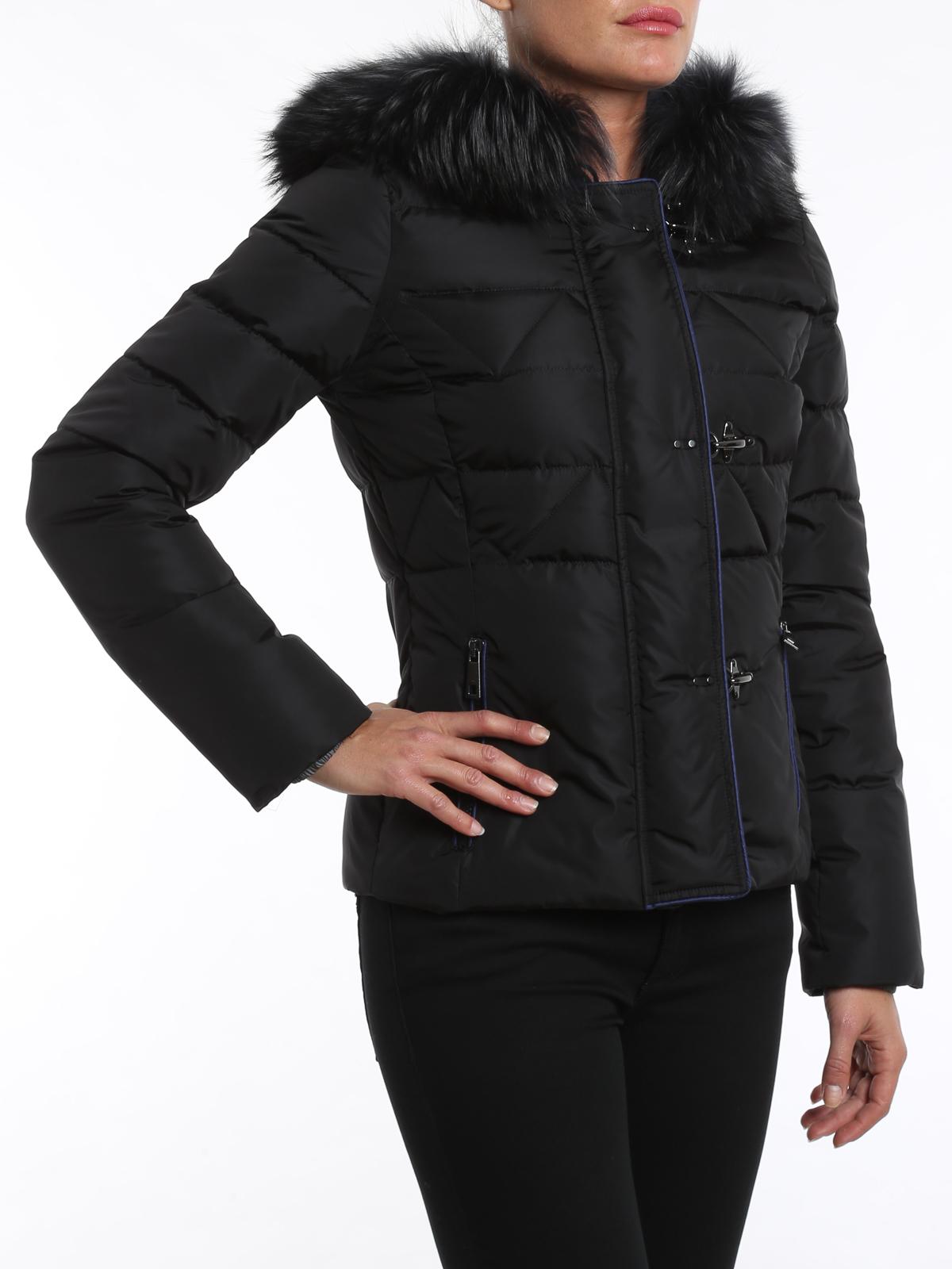 official photos a4c78 d2d4f Fay - Piumino con pelliccia - giacche imbottite ...