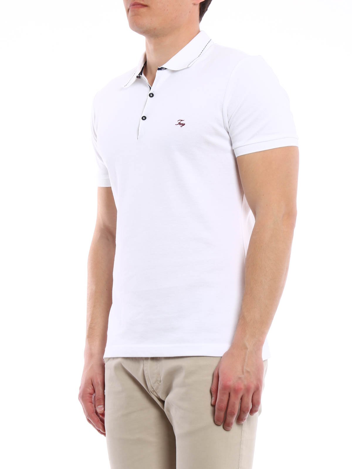 Cotton pique polo shirt by fay polo shirts ikrix for Cotton on polo shirt