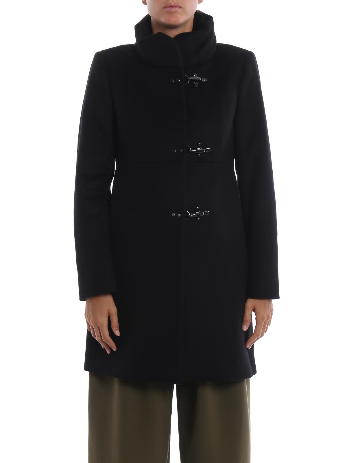 huge selection of da297 1c59f Fay - Cappotto Romantic nero in lana e cashmere - cappotti ...