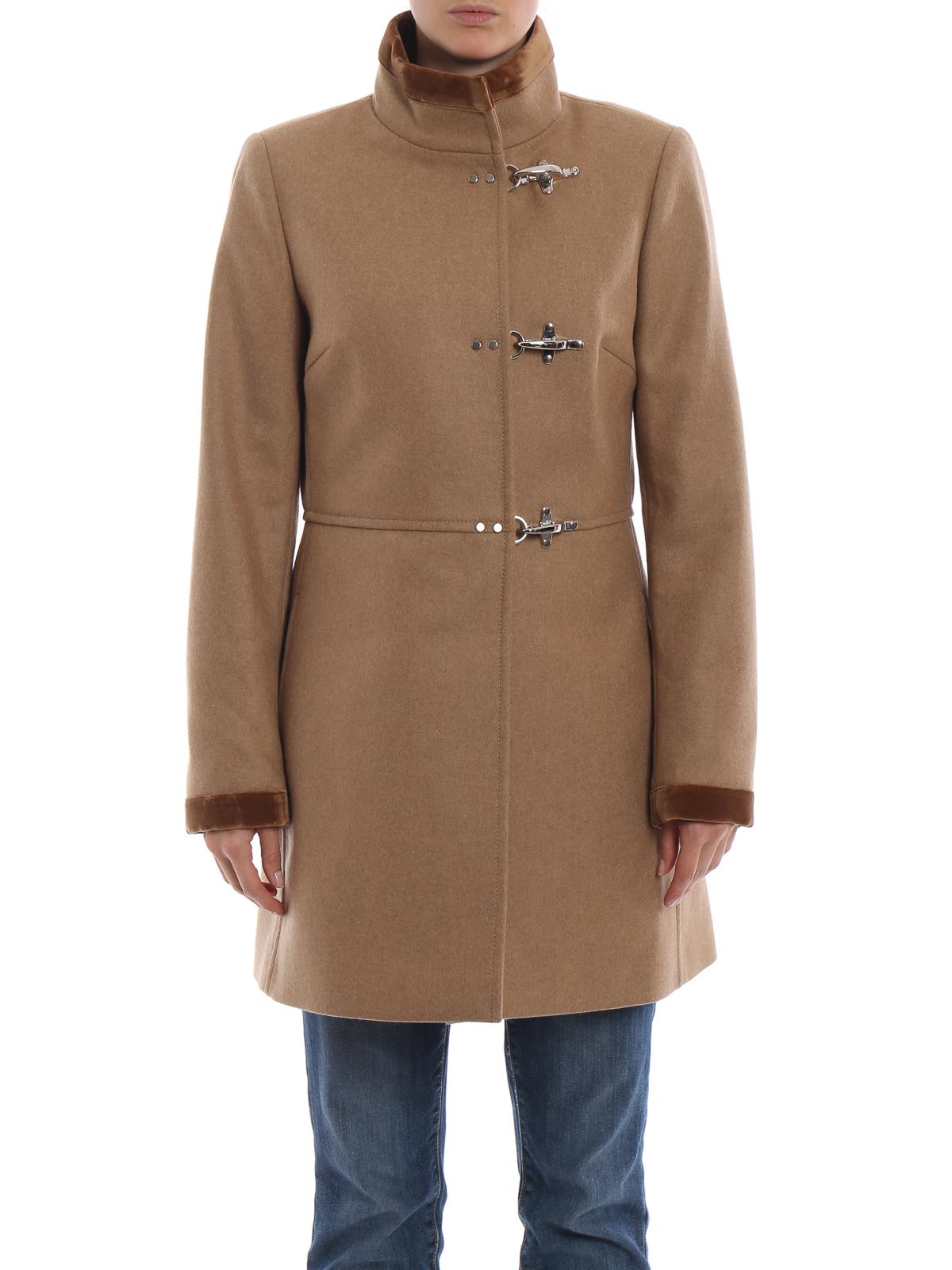 a3840c5bdc Fay - Cappotto Virginia in lana e cashmere cammello - cappotti corti ...