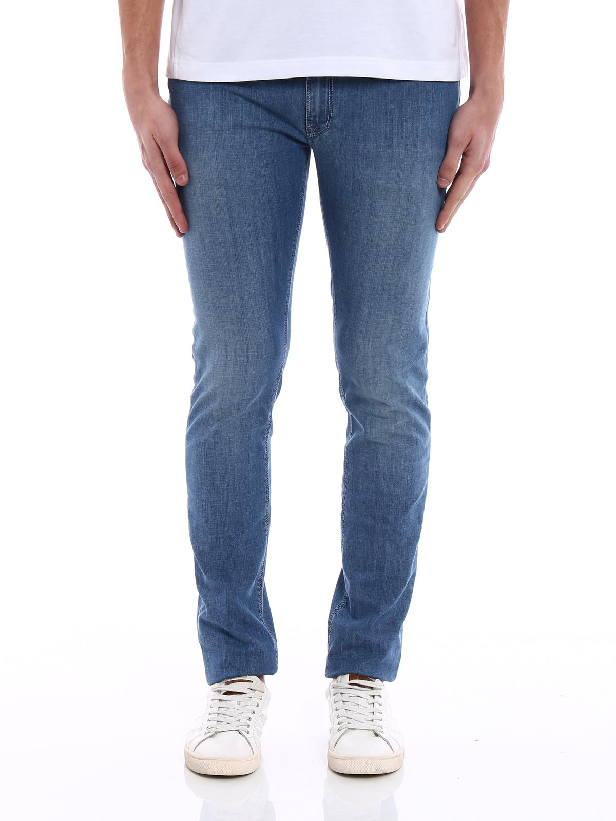 Fay Jeans in denim di cotone slim fit jeans dritti, a