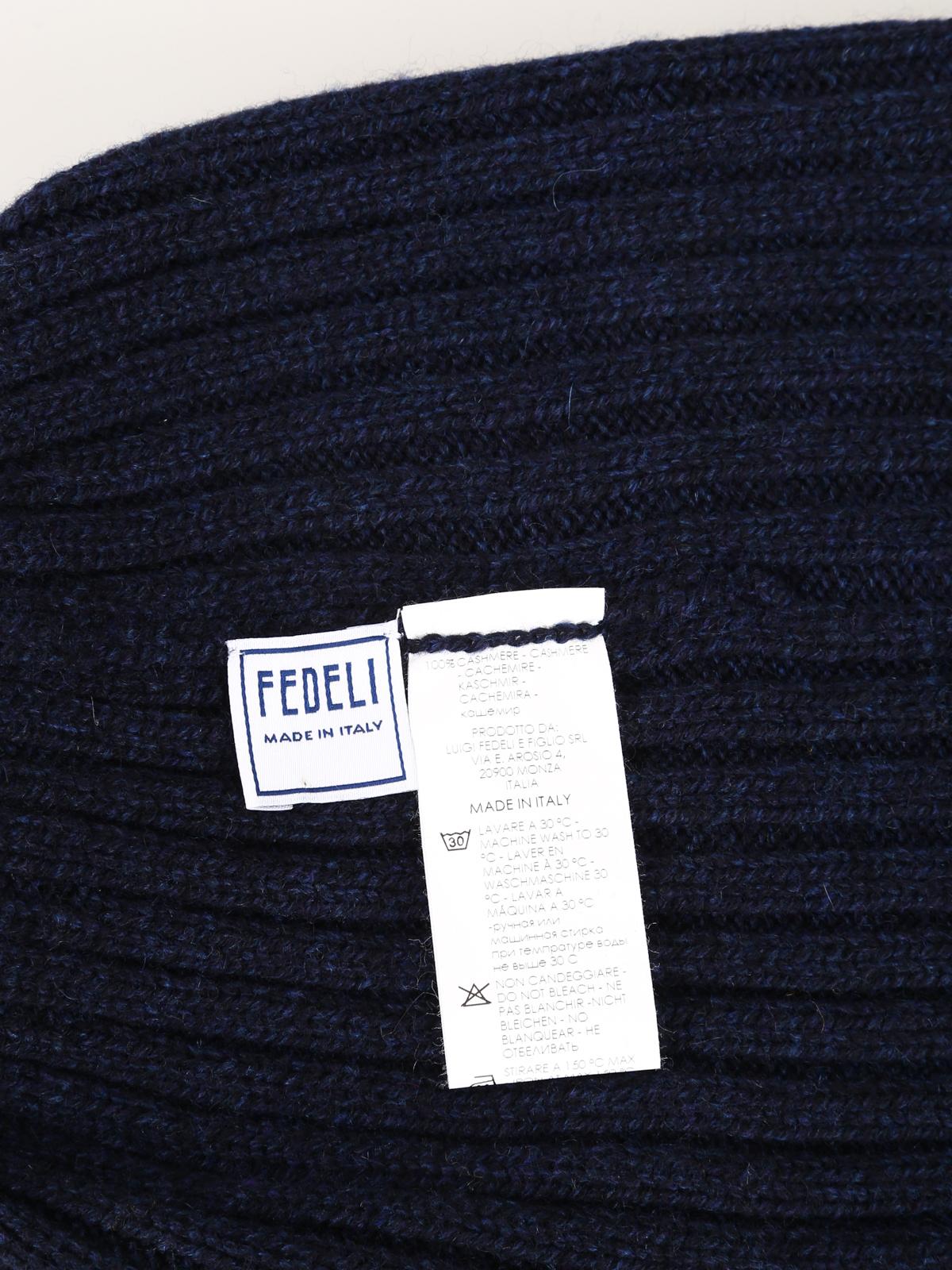 the best attitude edab0 5f7e5 Fedeli - Blue soft cashmere beanie - beanies ...