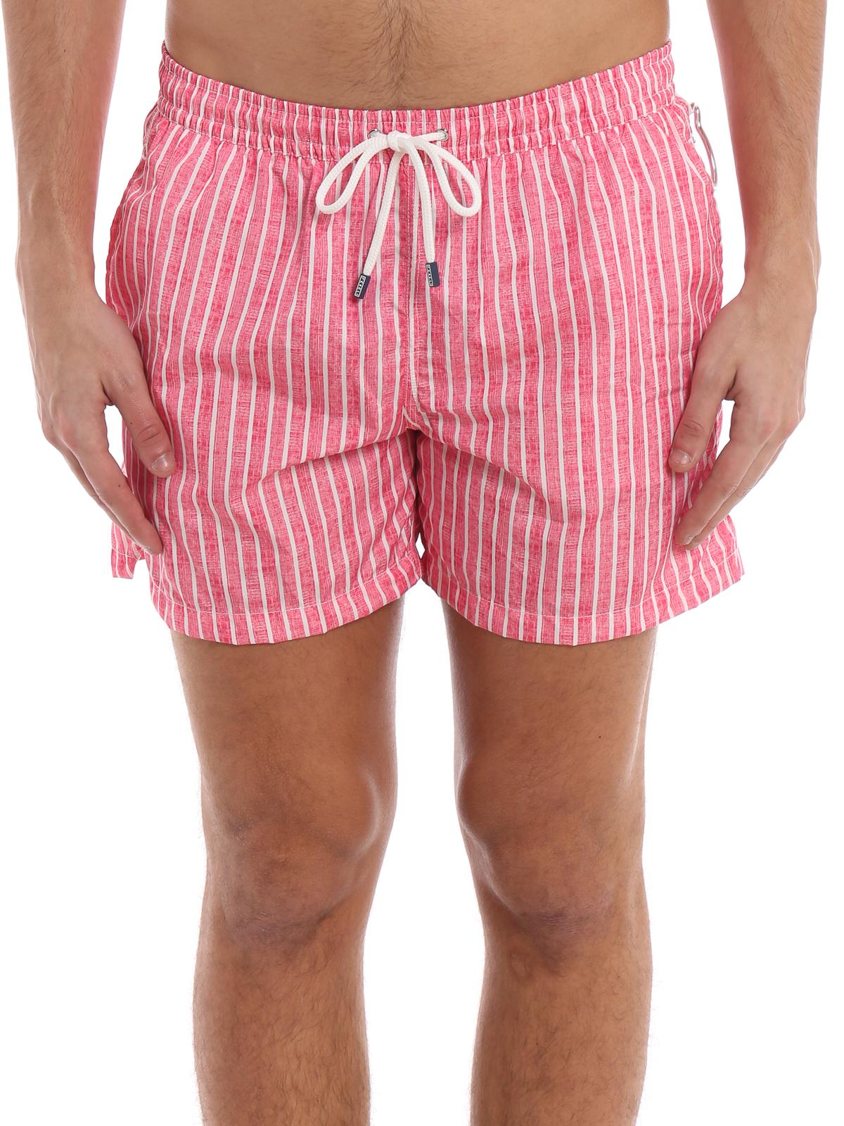 83e93ffa87 iKRIX FEDELI: Swim shorts & swimming trunks - Red and white striped swim  shorts