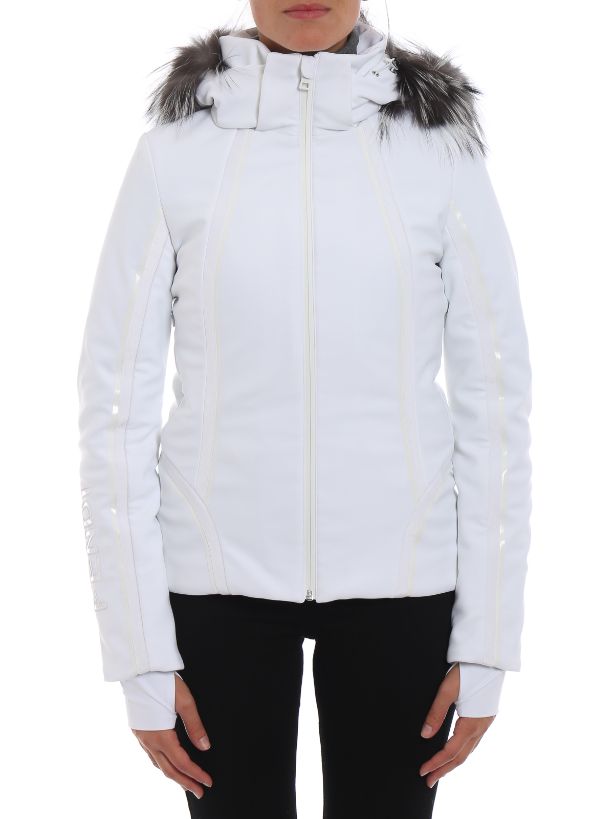 iKRIX FENDI  padded jackets - Hi-tech ski jacket with fox fur inserts aba442131