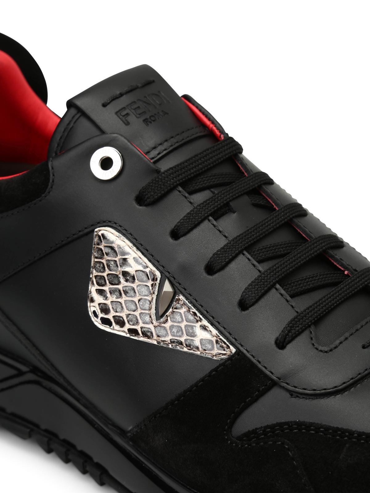 Fendi - Bag Bugs leather sneakers
