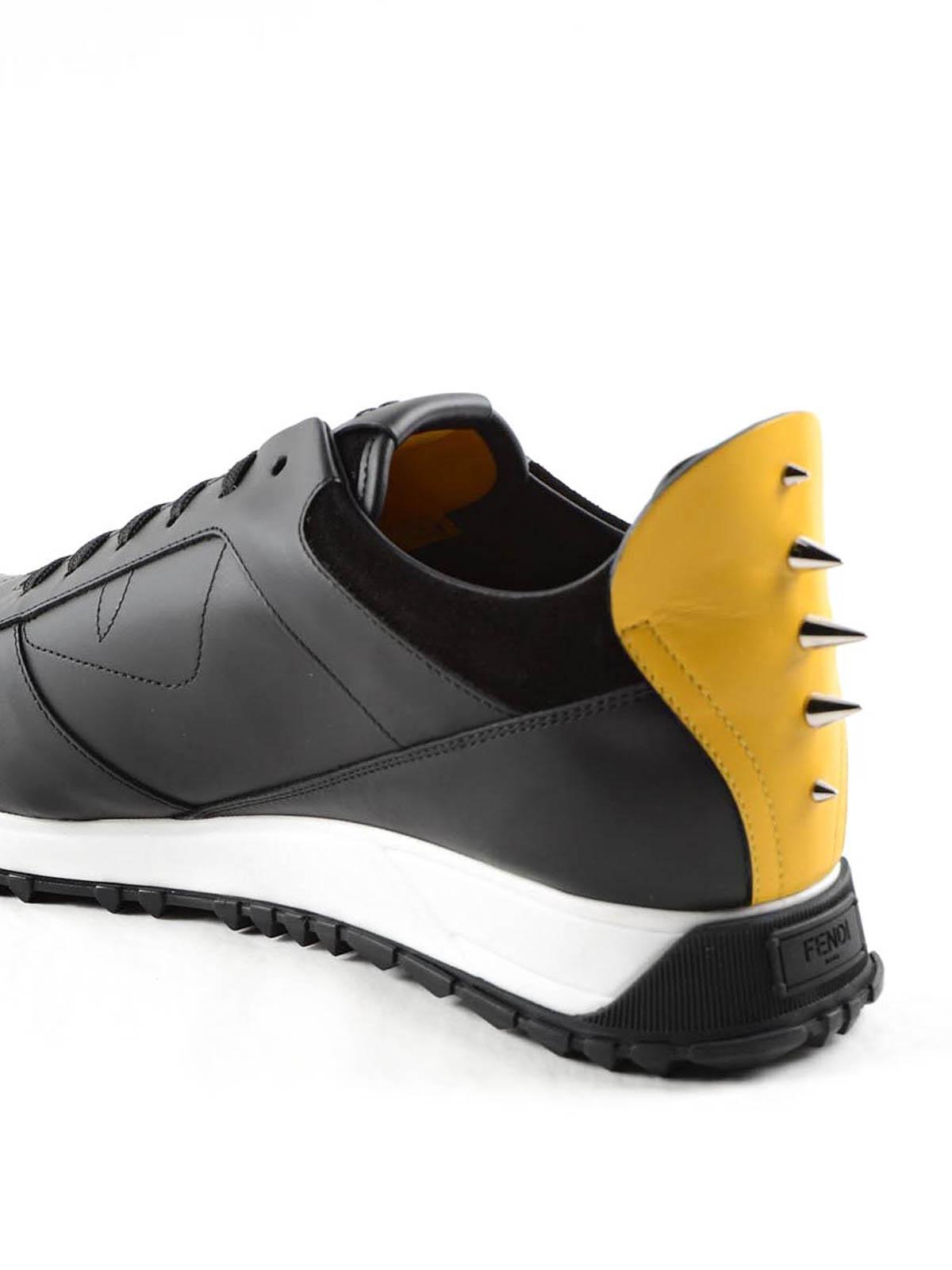 Fendi Chaussures De Sport Minimum - Noir SH7gBRT