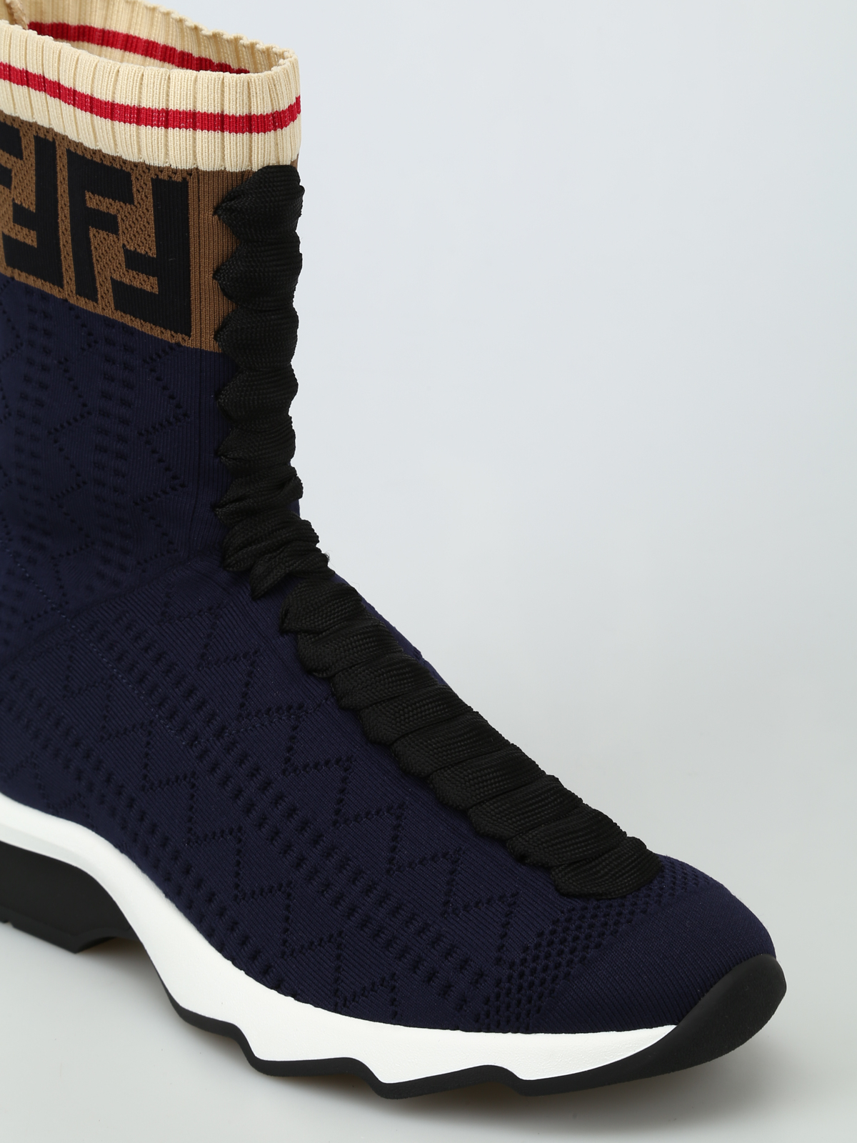 Fendi - Boot-style stretch knitted