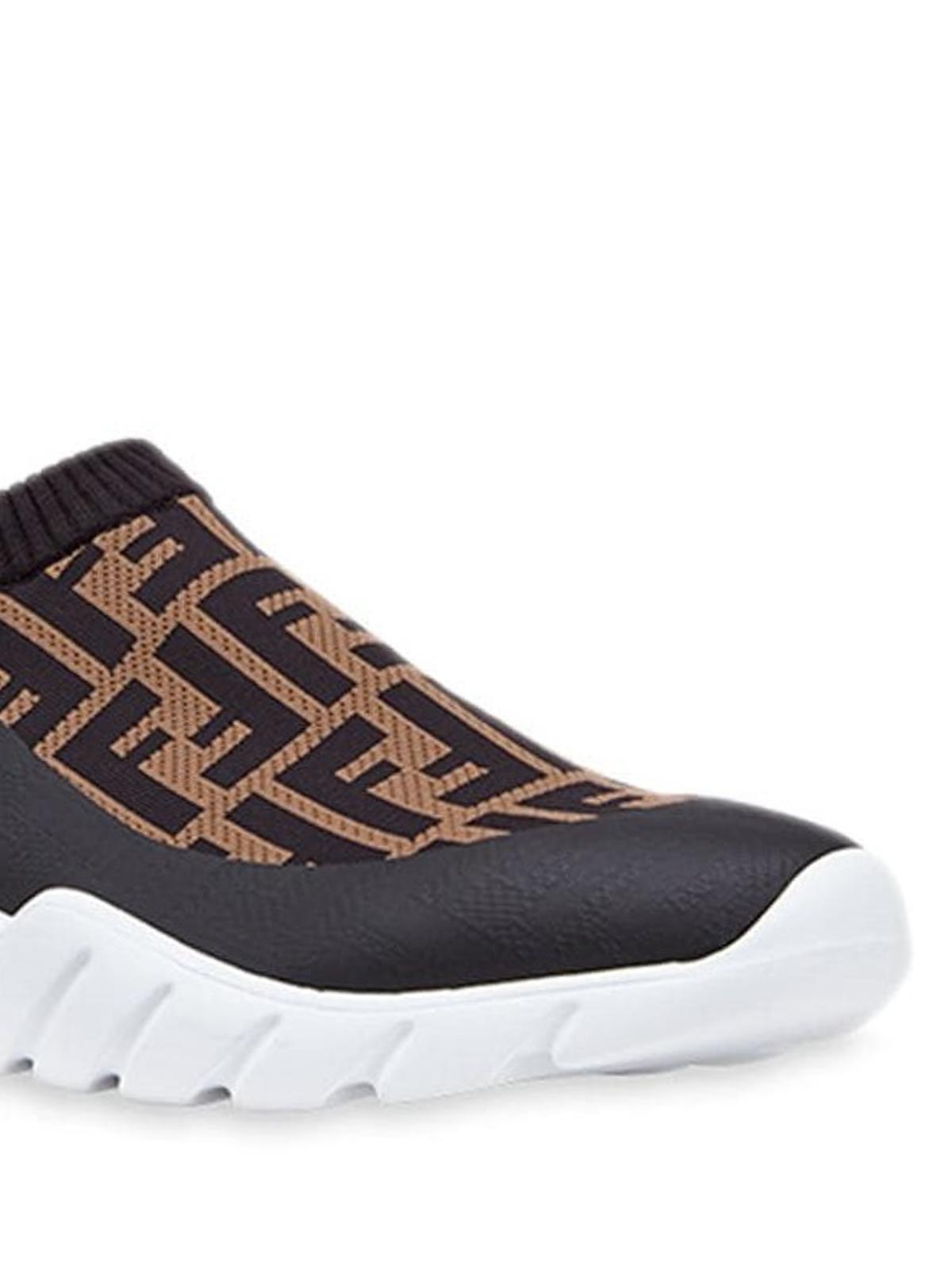 FF print tech fabric sock sneakers