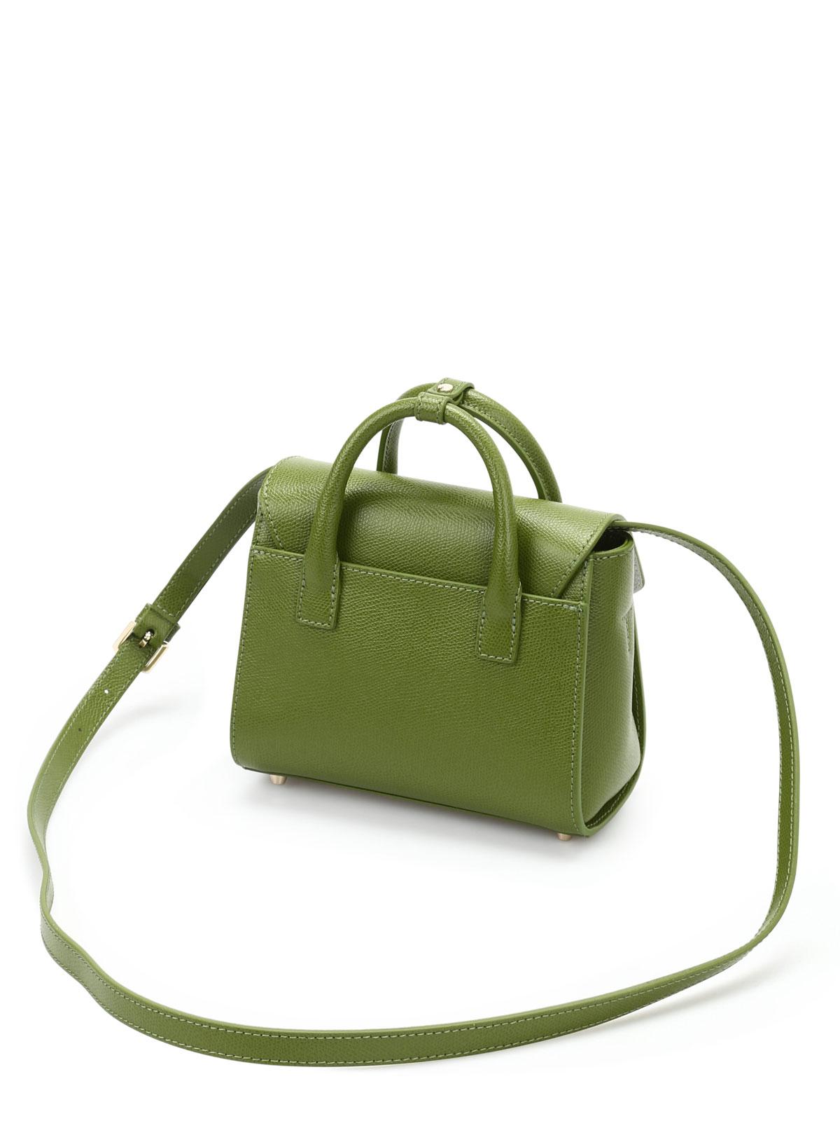 FURLA Tasche aus Leder, grün NEU mit t