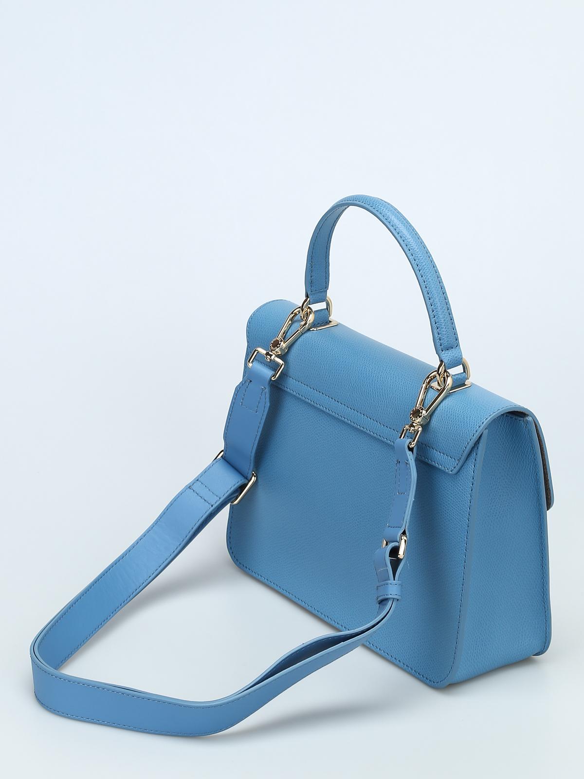 Ikrix Furla Cross Body Bags Metropolis S Sky Blue Leather Bag