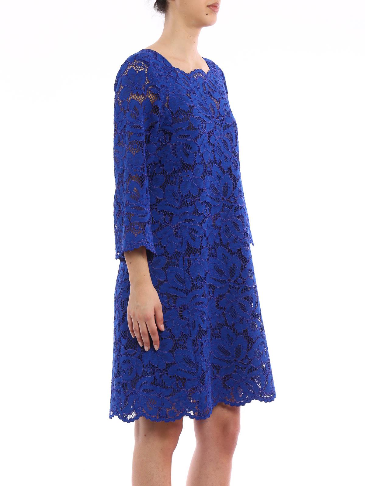 Gerard Darel Crazy Floral Lace Dress Robe Longueur Genou Dcr48c101